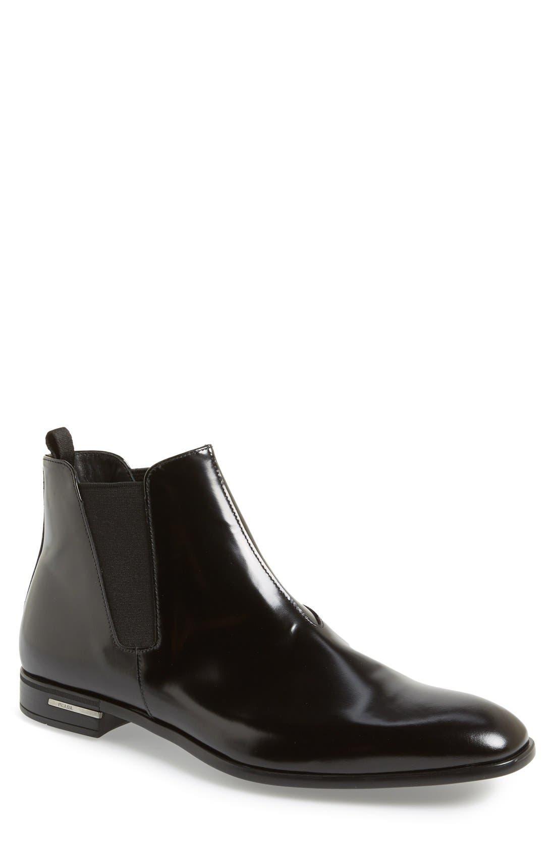 Main Image - Prada 'Spazzolato' Chelsea Boot (Men)