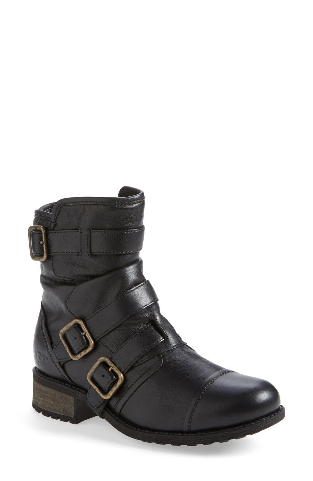 Alternate Image 1 Selected - UGG® Australia 'Finney' Moto Boot (Women)