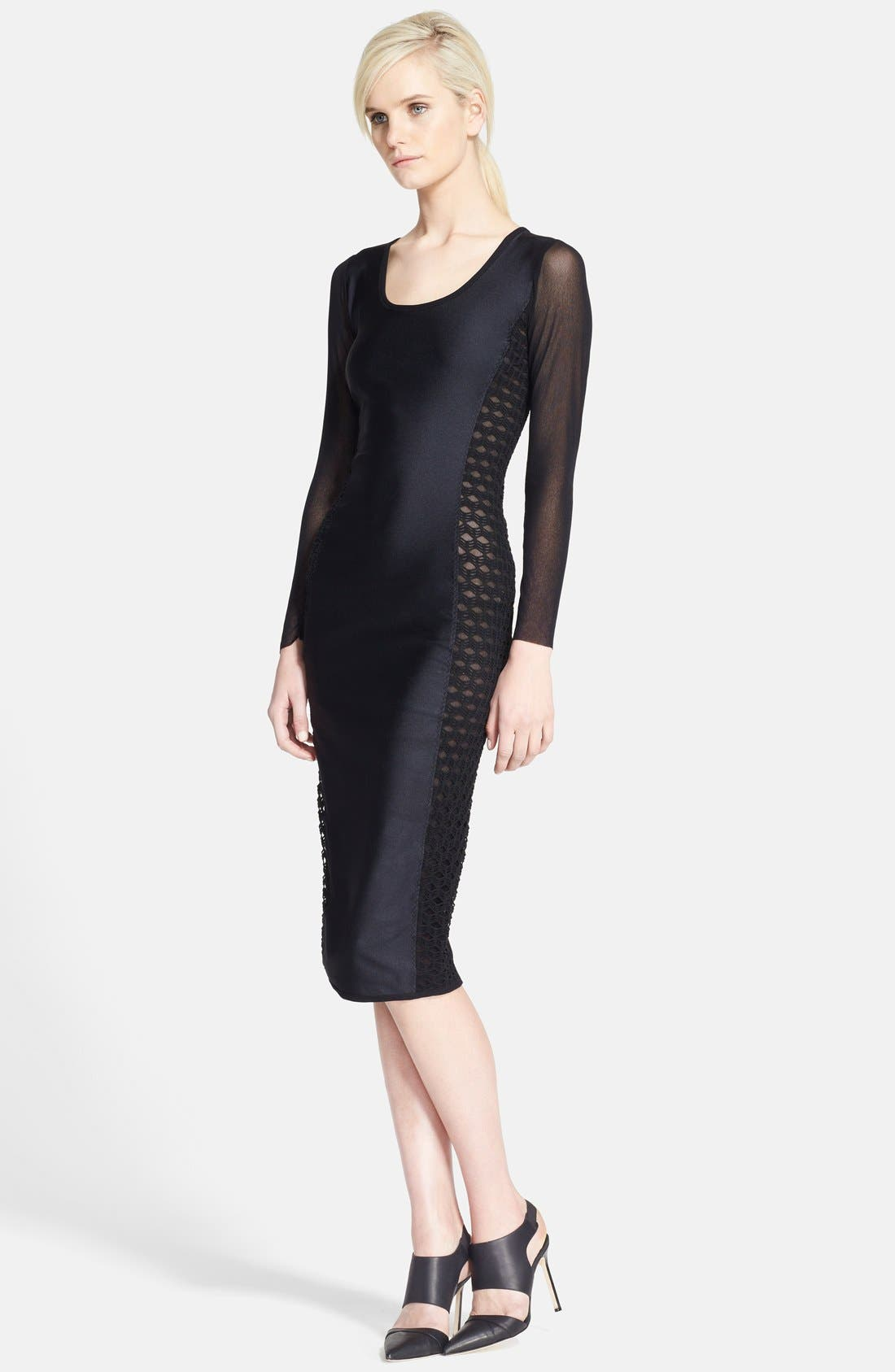 Main Image - Jean Paul Gaultier Mixed Media Pencil Dress