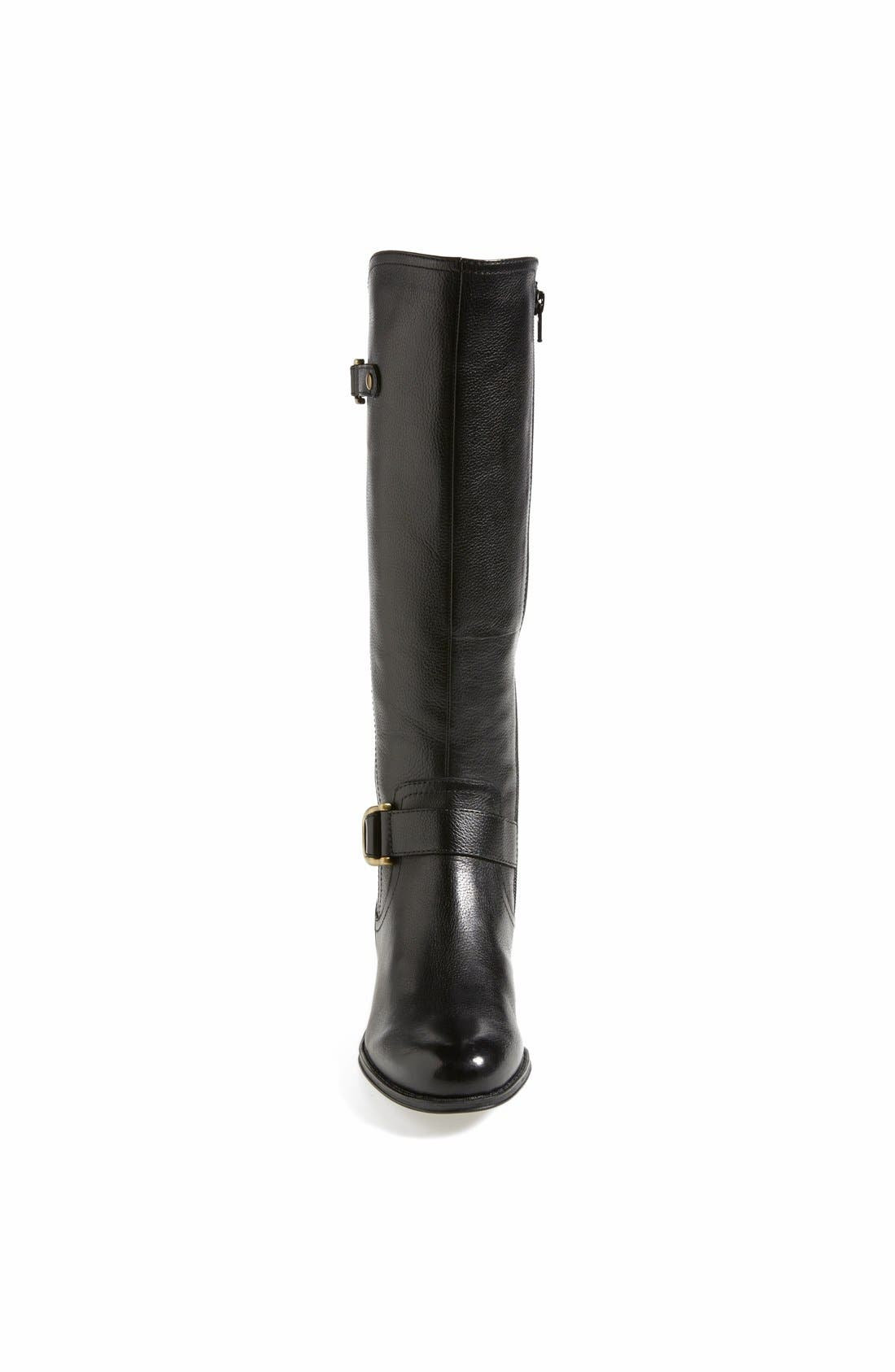 Alternate Image 3  - Naturalizer 'Jersey' Leather Riding Boot (Wide Calf) (Women)