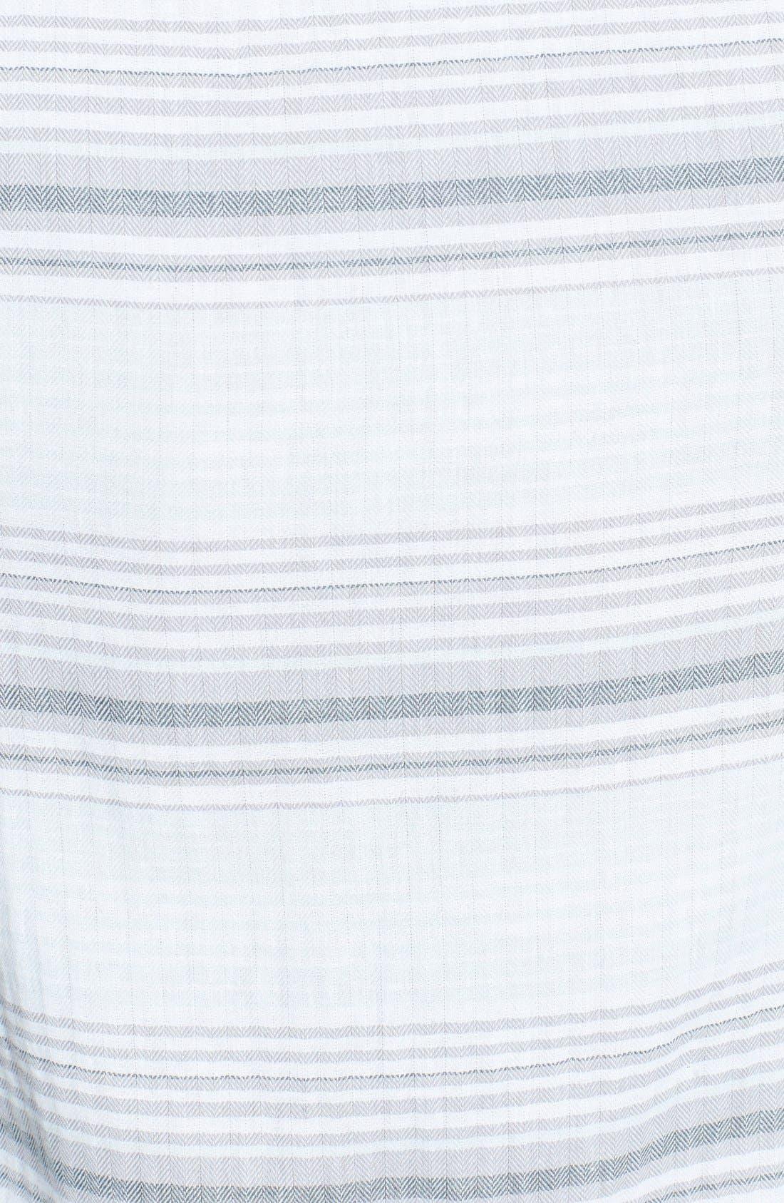 Alternate Image 3  - 1901 Herringbone Stripe Woven Shirt