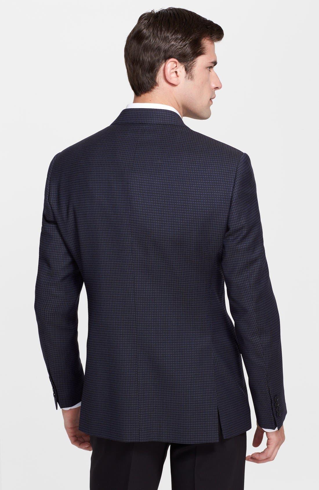Alternate Image 2  - Armani Collezioni 'Giorgio' Navy Check Virgin Wool Sport Coat