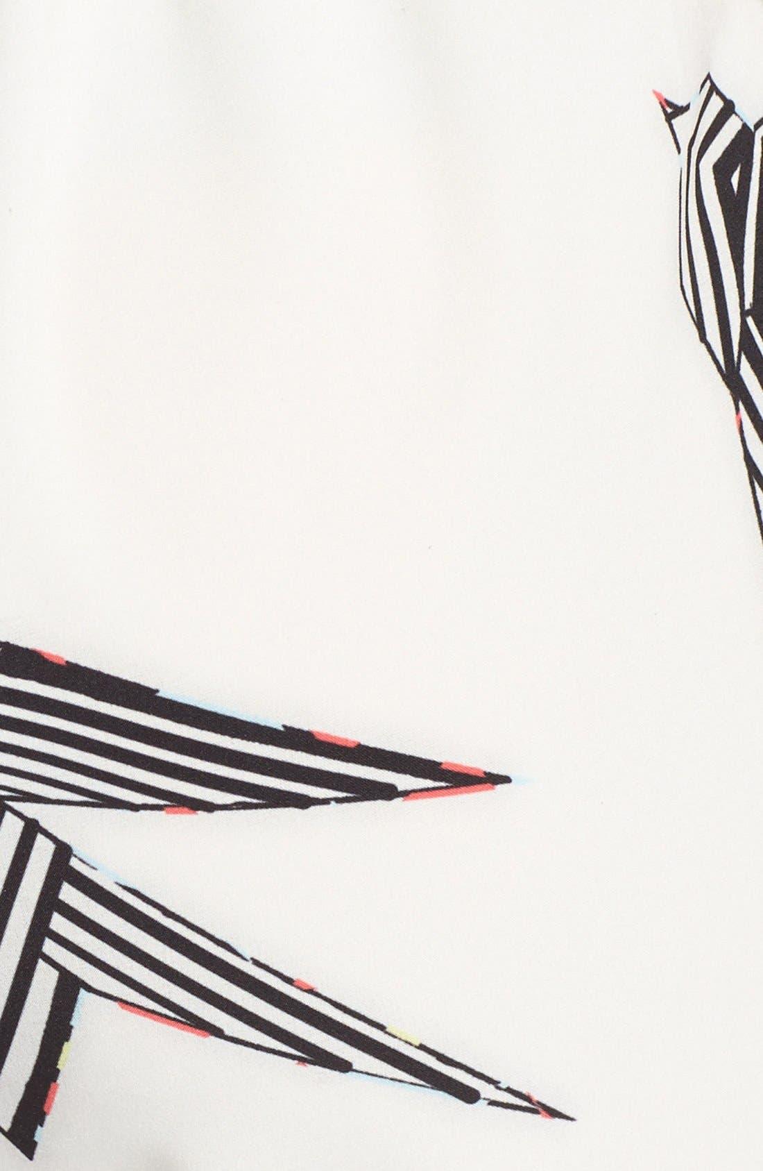 Alternate Image 3  - Rules of Etiquette Print Tie Front Romper