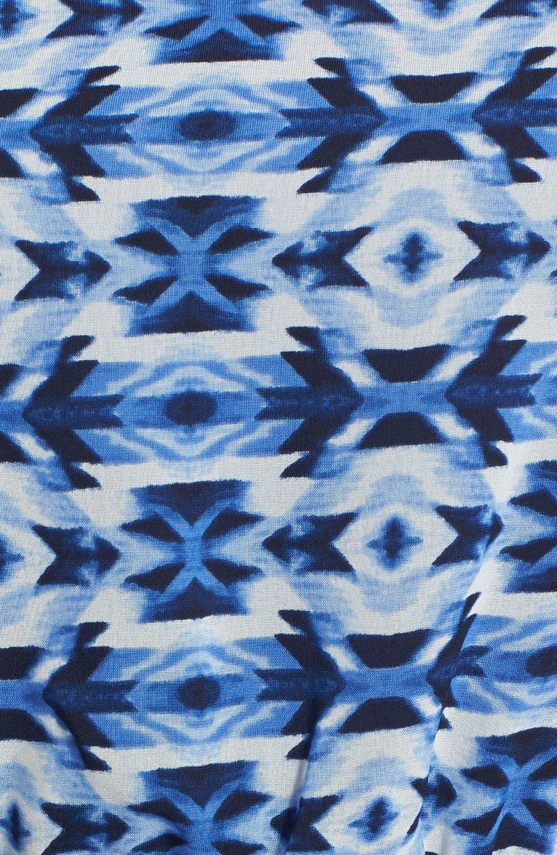 Alternate Image 3  - Bobeau Print Elastic Waist Maxi Dress