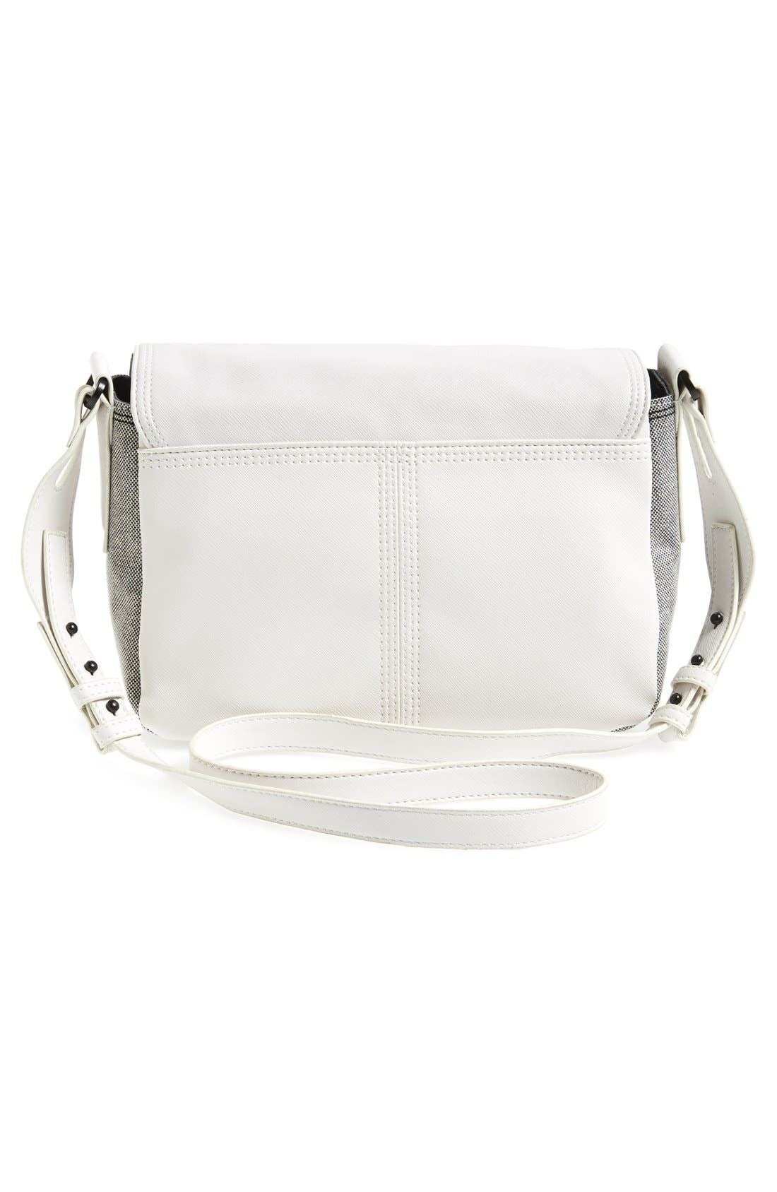 Alternate Image 4  - French Connection Faux Leather Crossbody Bag