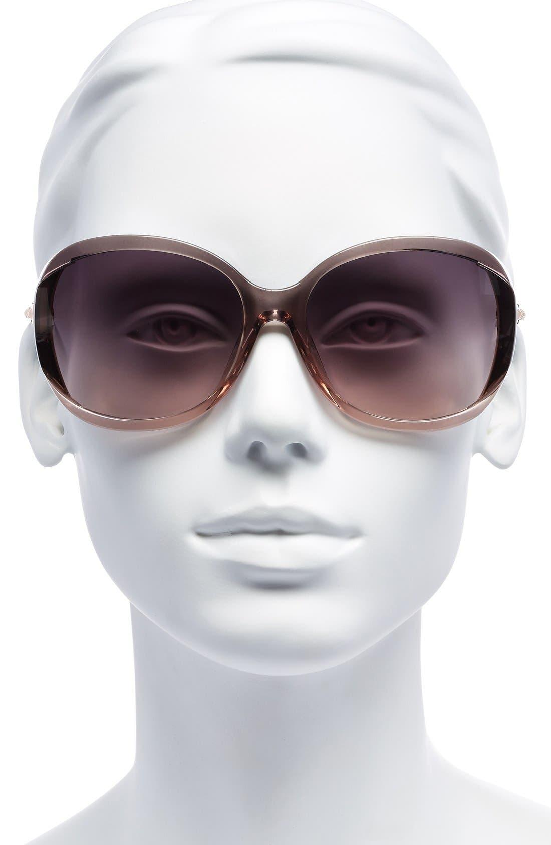 Alternate Image 2  - MICHAEL Michael Kors 'Kinsey' 64mm Gradient Lens Sunglasses