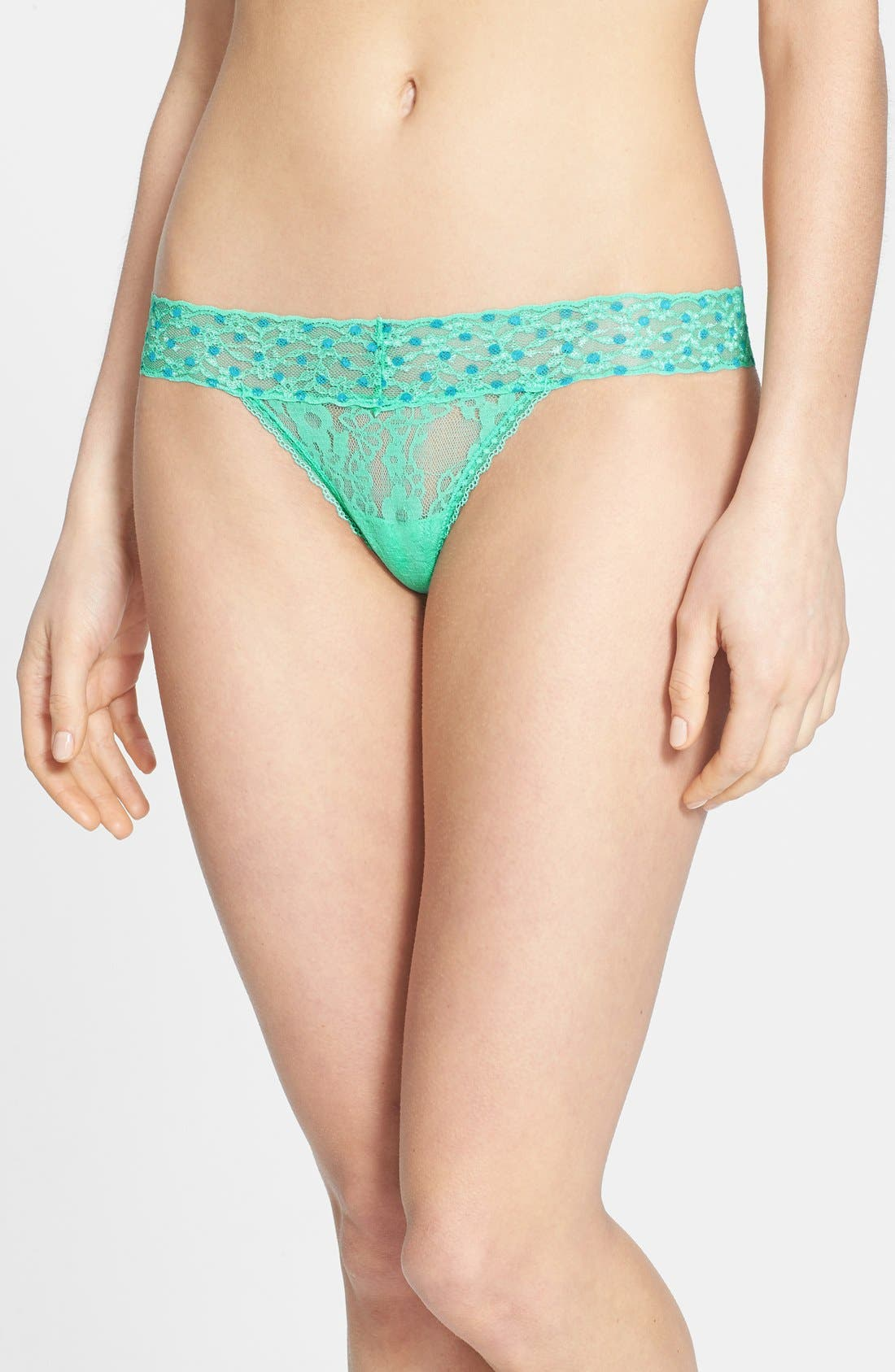 Main Image - BP. Undercover Lace Waist Thong (Juniors)