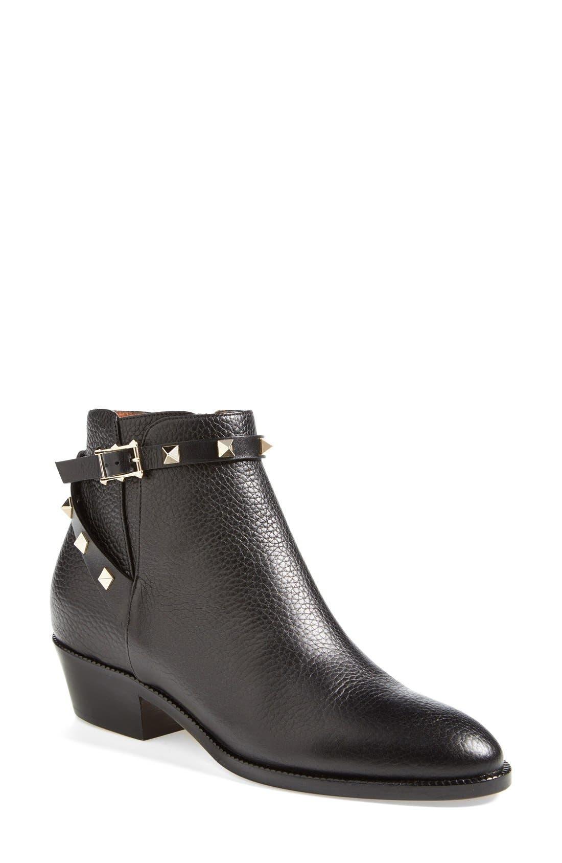 Main Image - Valentino 'Rockstud' Ankle Boot (Women)