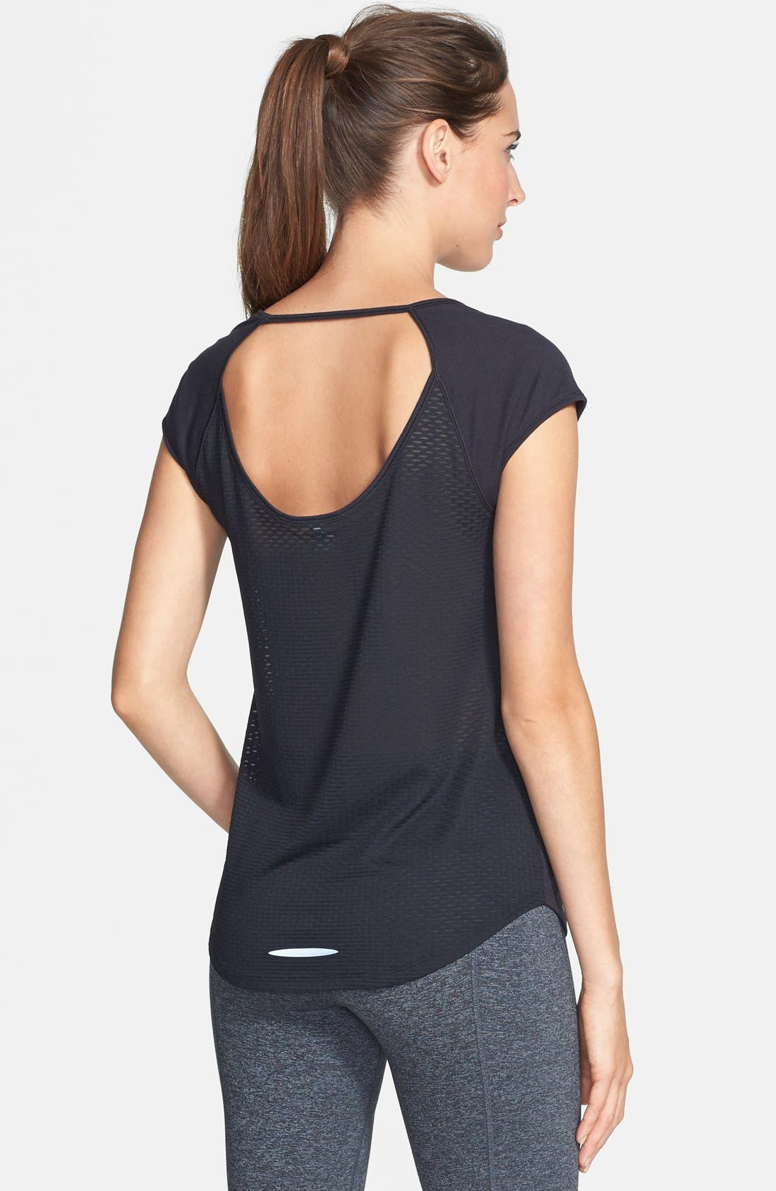 Alternate Image 2  - Under Armour 'Fly By' Cutout Mesh Back Tee