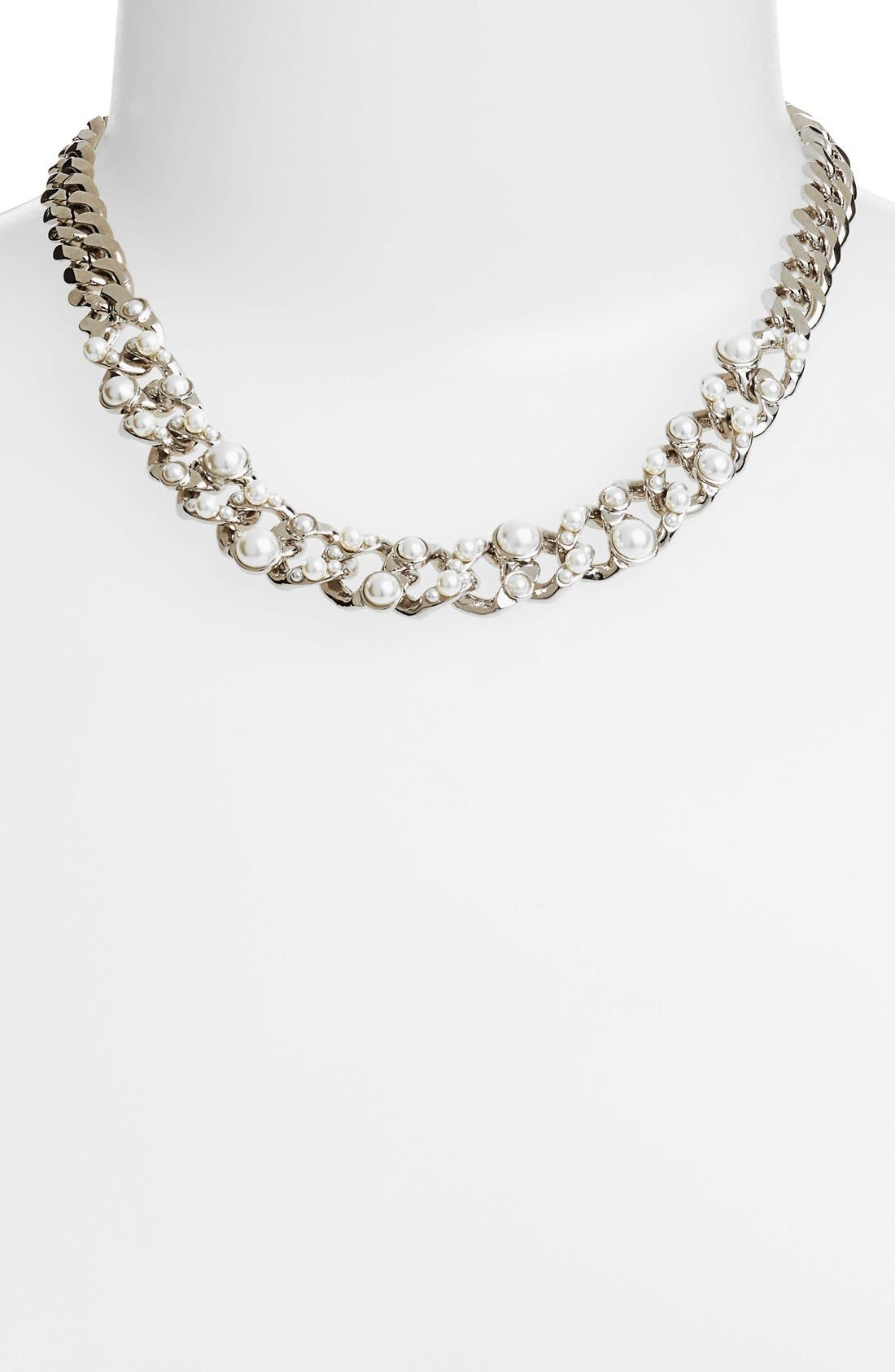 Alternate Image 1 Selected - Givenchy Glass Pearl & Link Collar Necklace