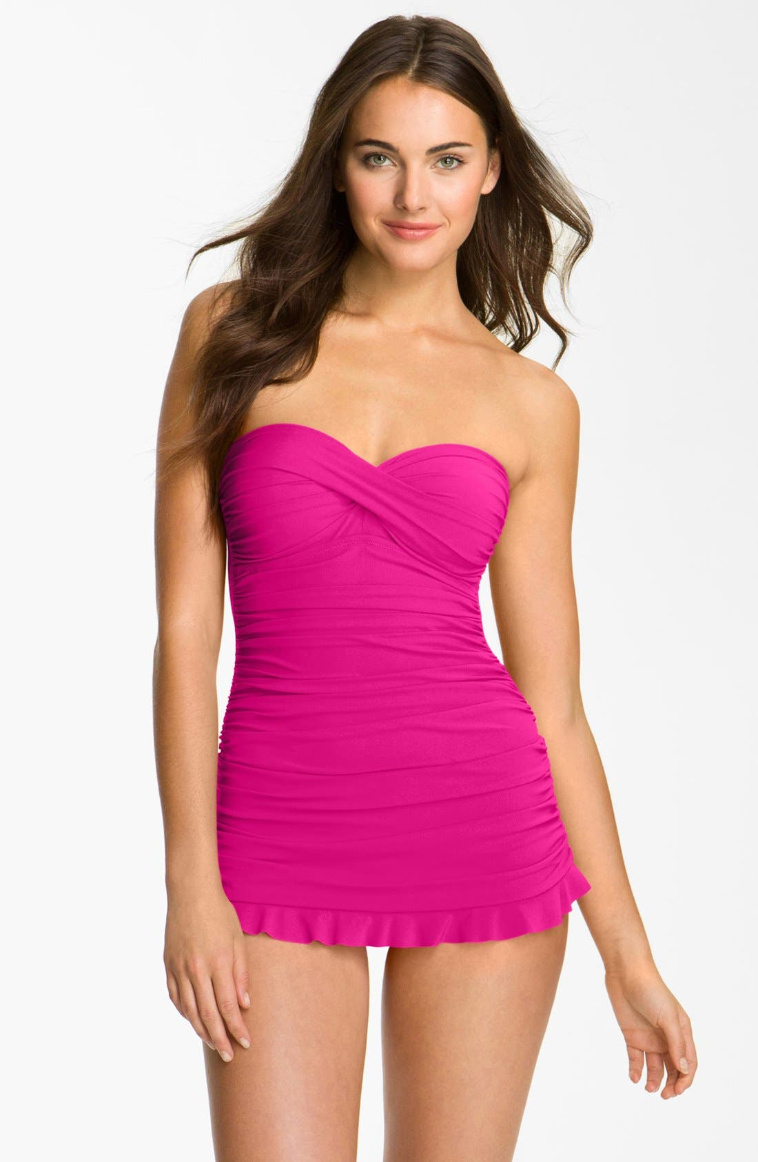 Main Image - Profile by Gottex 'Tutti Frutti' Skirted One-Piece Swim Dress