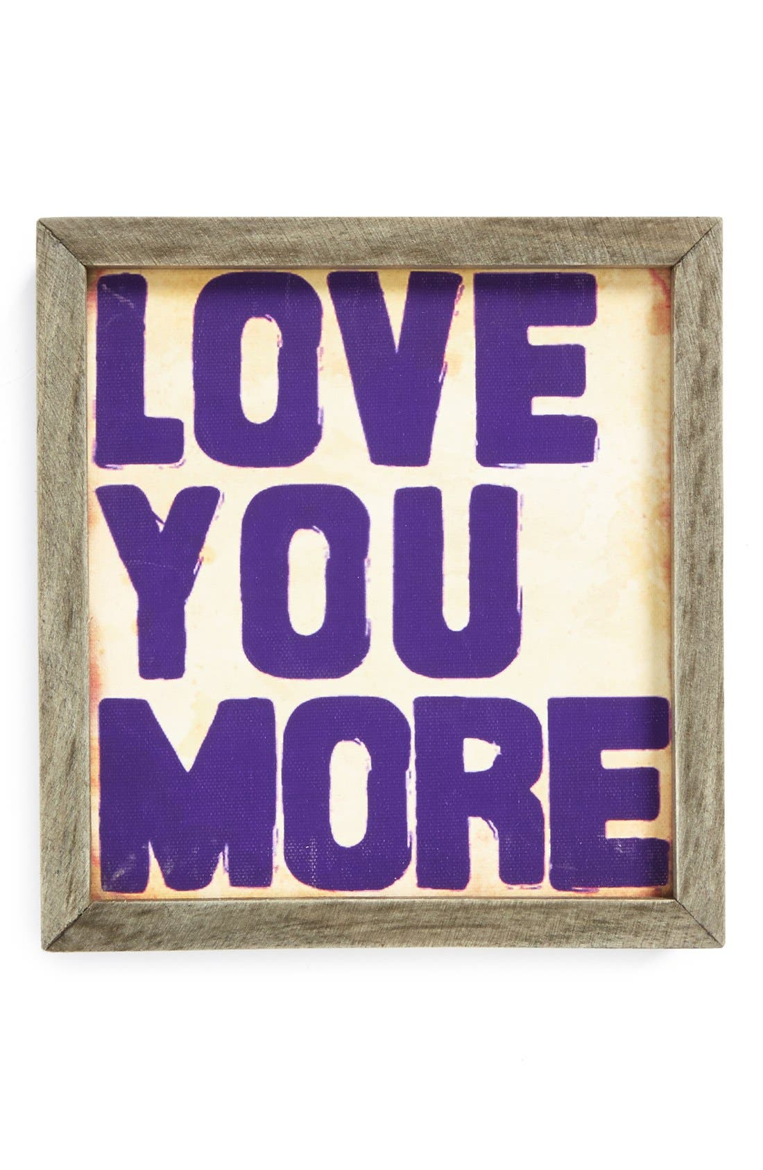 Alternate Image 1 Selected - Natural Life 'Love You More - Street Market' Stretched Canvas Wall Art