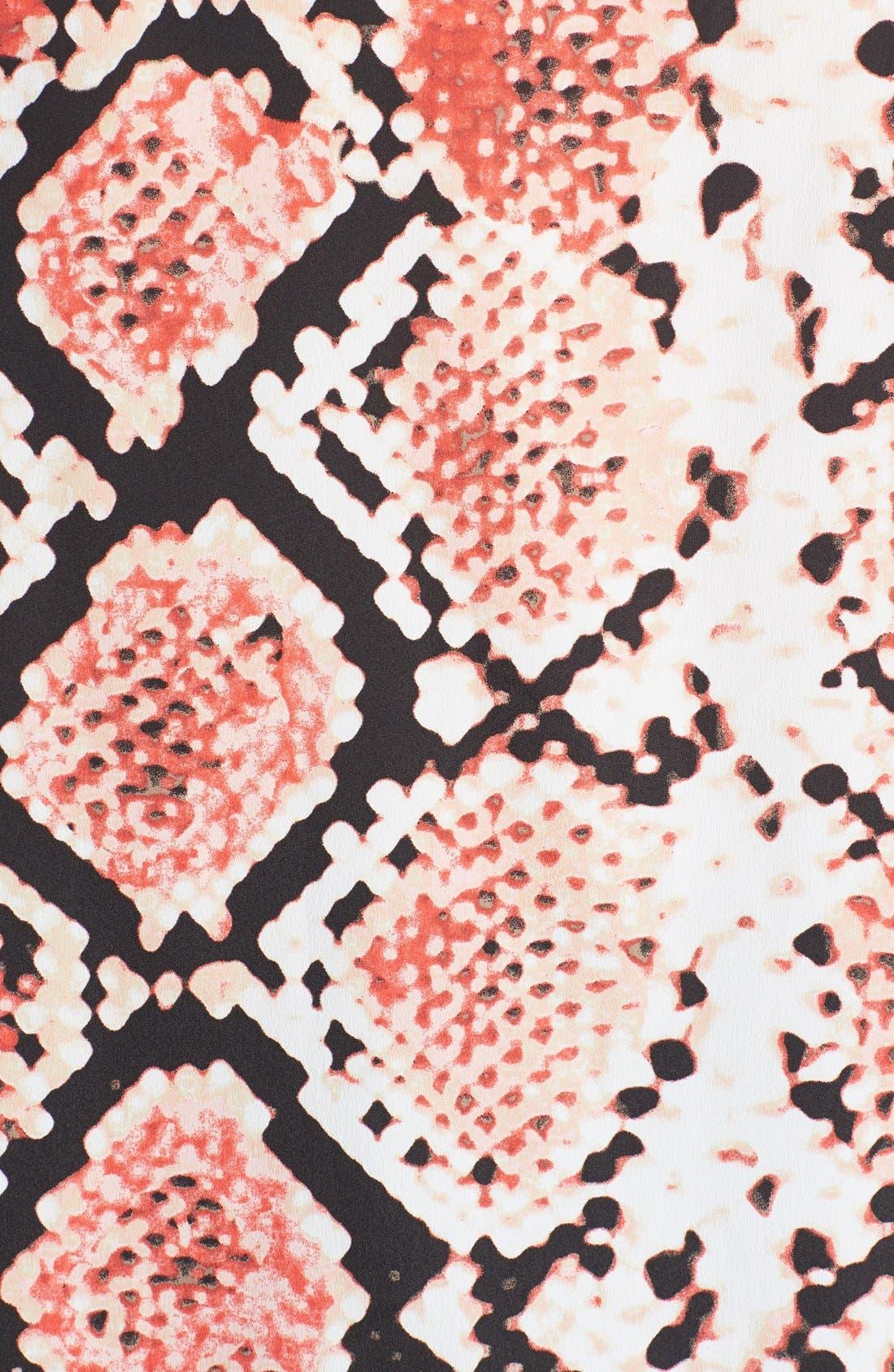 Alternate Image 3  - DKNYC Print Sleeveless Draped Blouse (Plus Size)
