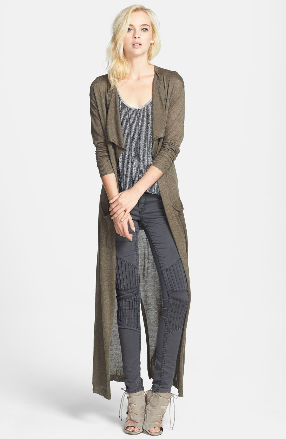 Main Image - Leith Drape Front Duster Cardigan