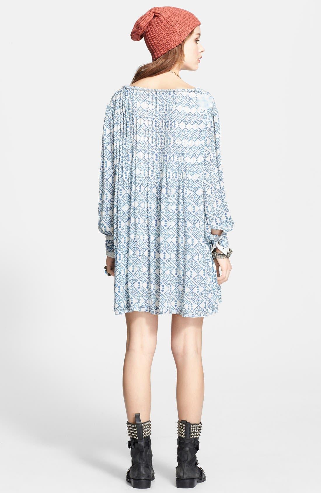 Alternate Image 2  - Free People 'Marlow' Print Pintuck Pleat Shift Dress