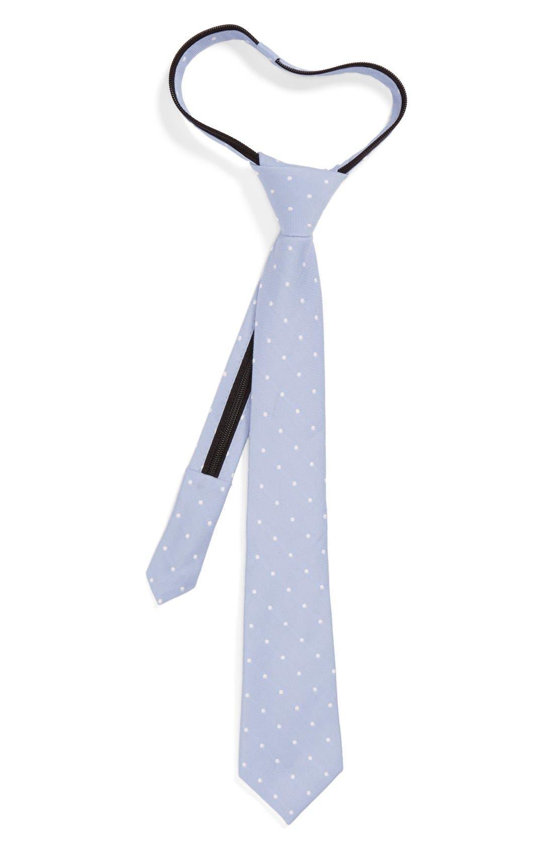 Main Image - Nordstrom Cotton & Silk Zipper Tie (Big Boys)
