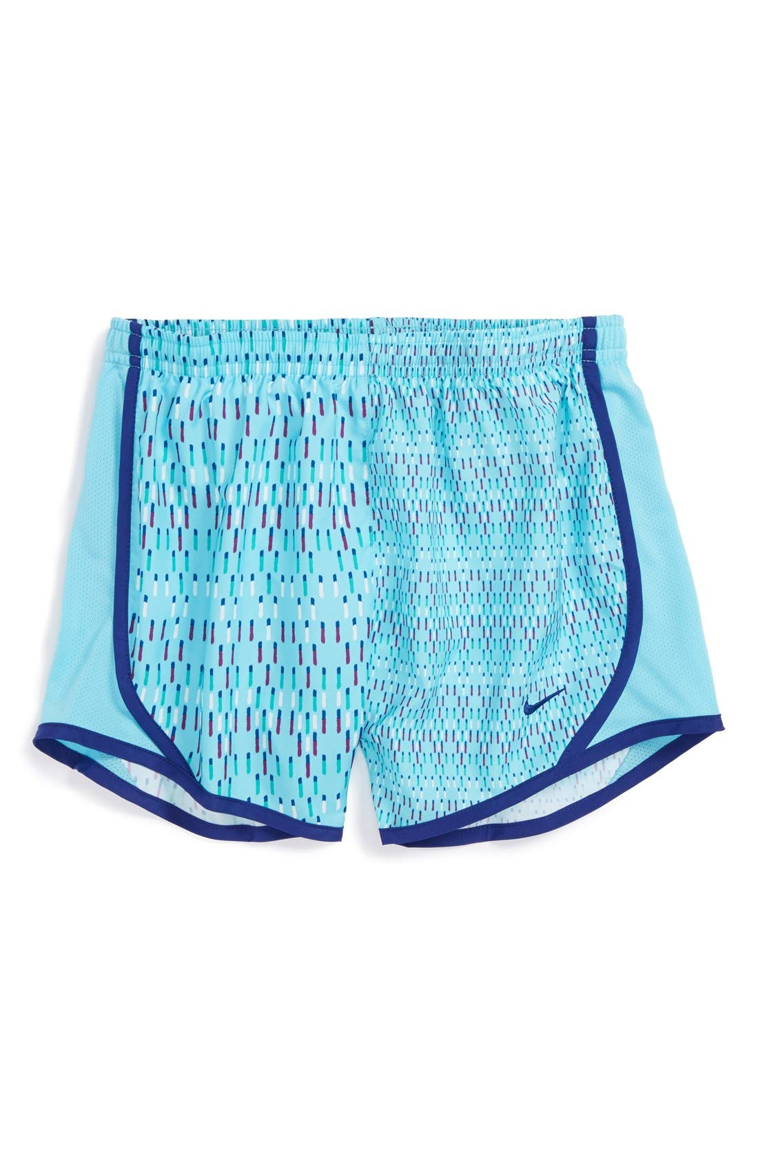 Alternate Image 1 Selected - Nike 'Tempo GFX' Dri-FIT Track Shorts (Big Girls)