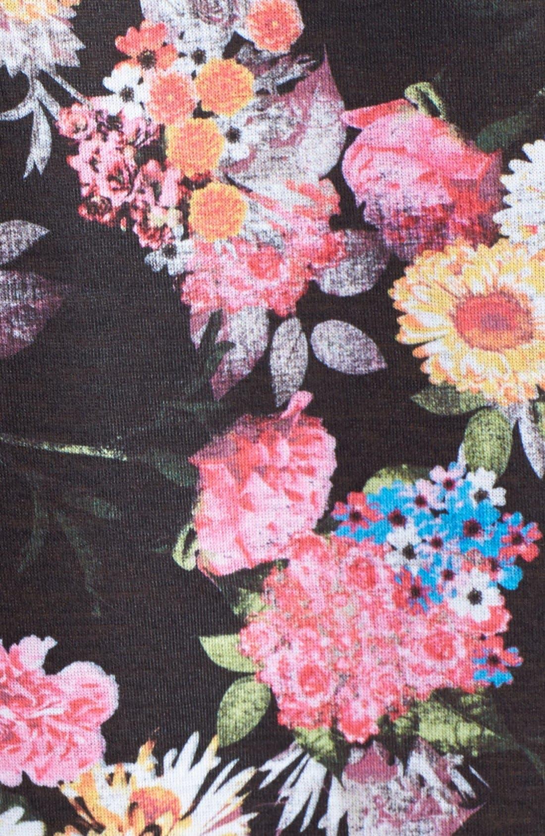 Alternate Image 3  - Madison & Berkeley 'Yeah Right' Graphic Floral Print Tee