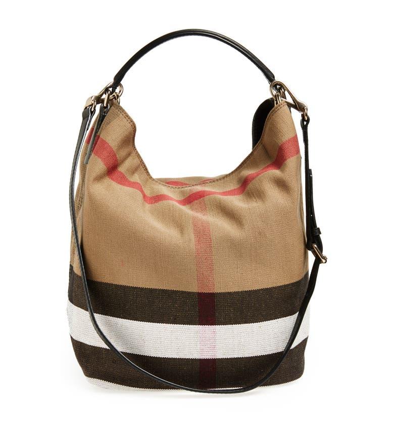 Main Image - Burberry Medium Susanna Check Print Bucket Bag
