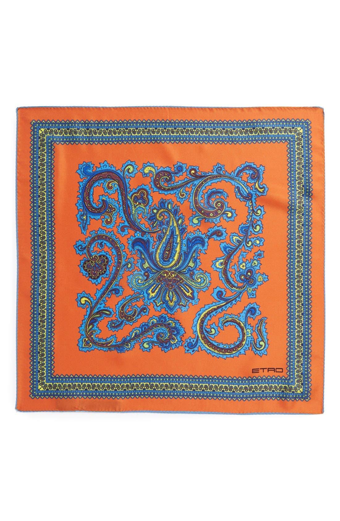 Alternate Image 2  - Etro Print Silk Pocket Square