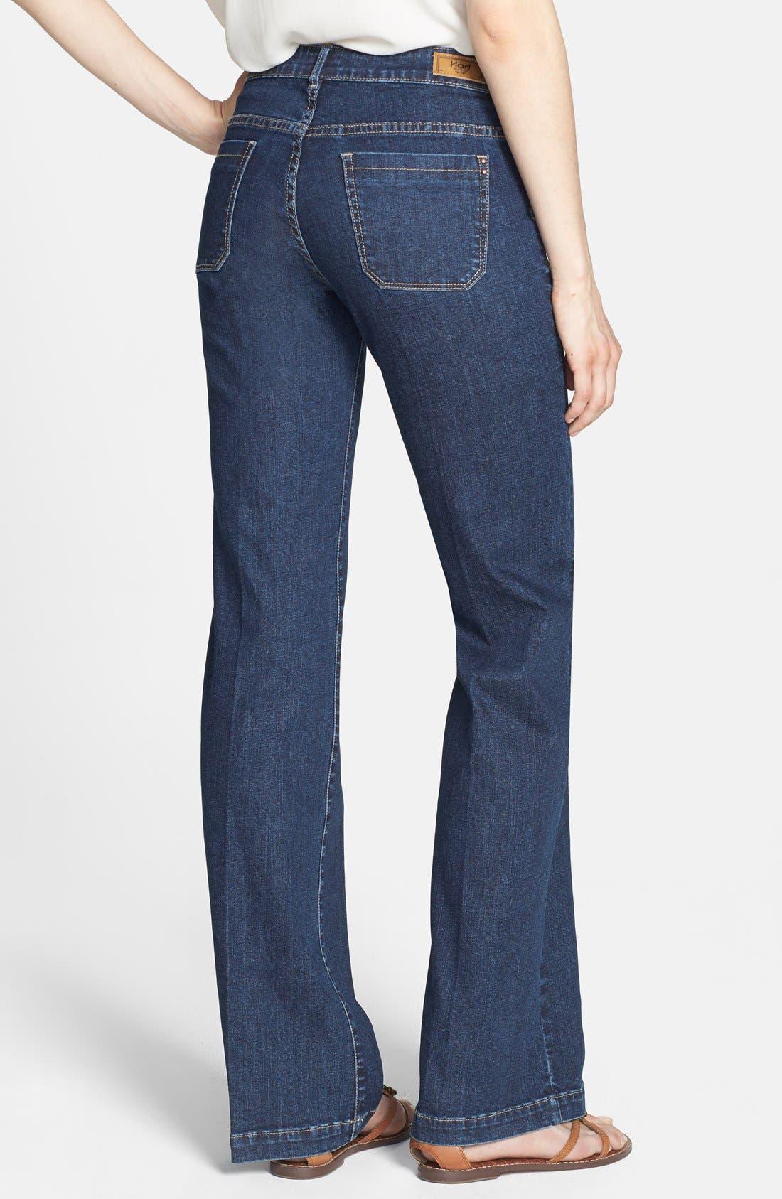 Alternate Image 2  - HART Denim 'Pheona' Wide Leg Trouser Jeans (Carbon) (Juniors)
