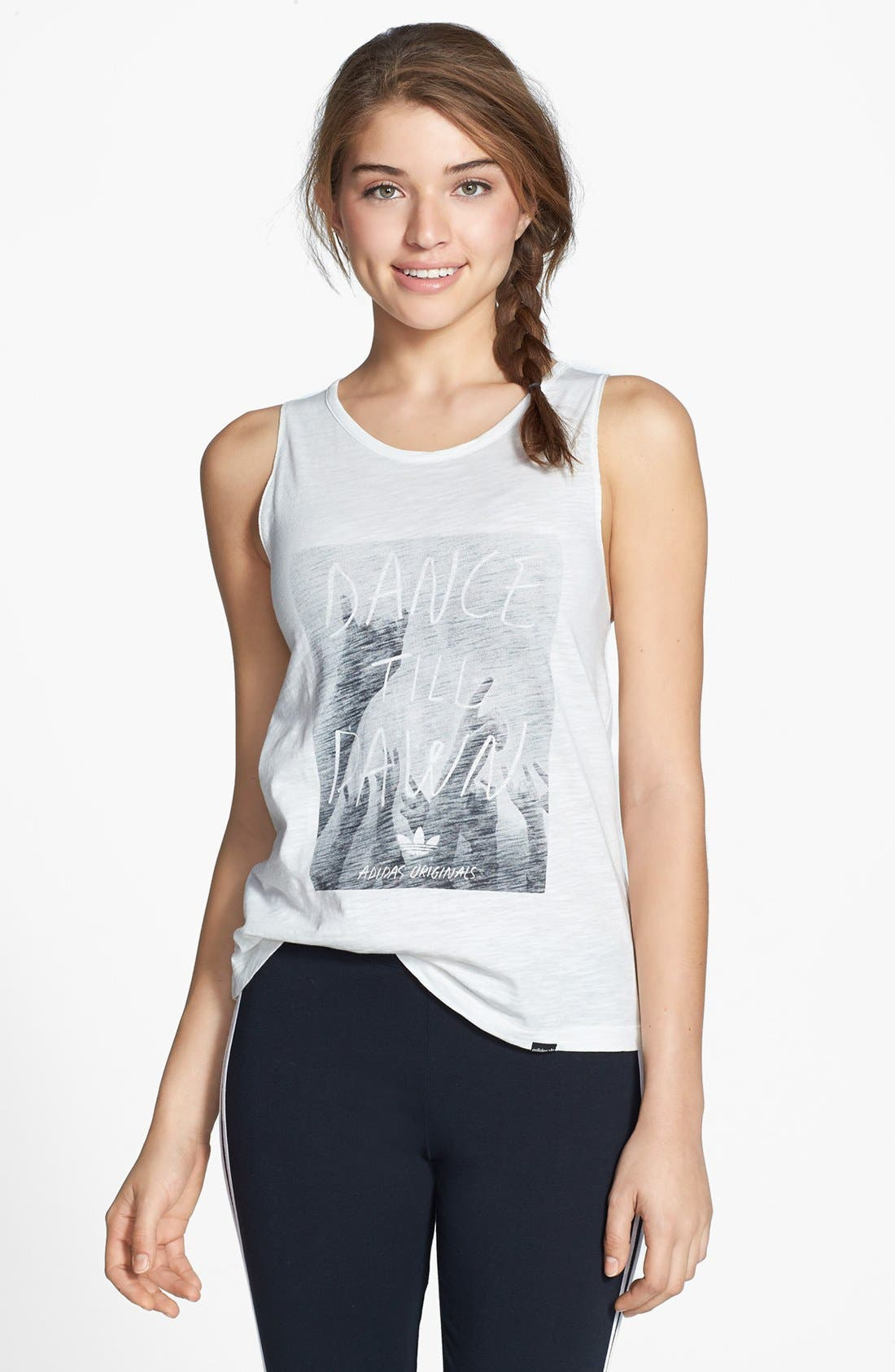 Alternate Image 1 Selected - adidas Originals 'Indie - Dance Till Dawn' Graphic Cutout Tank