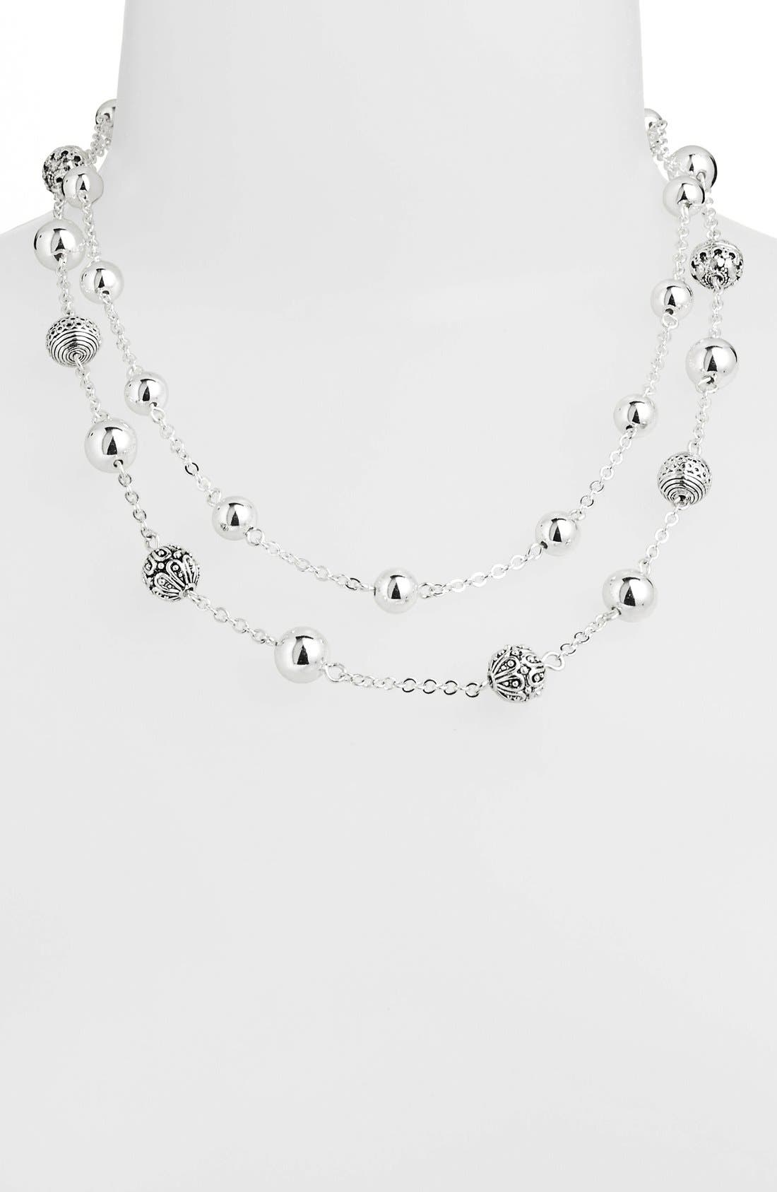 Main Image - Lauren Ralph Lauren Beaded Multistrand Necklace