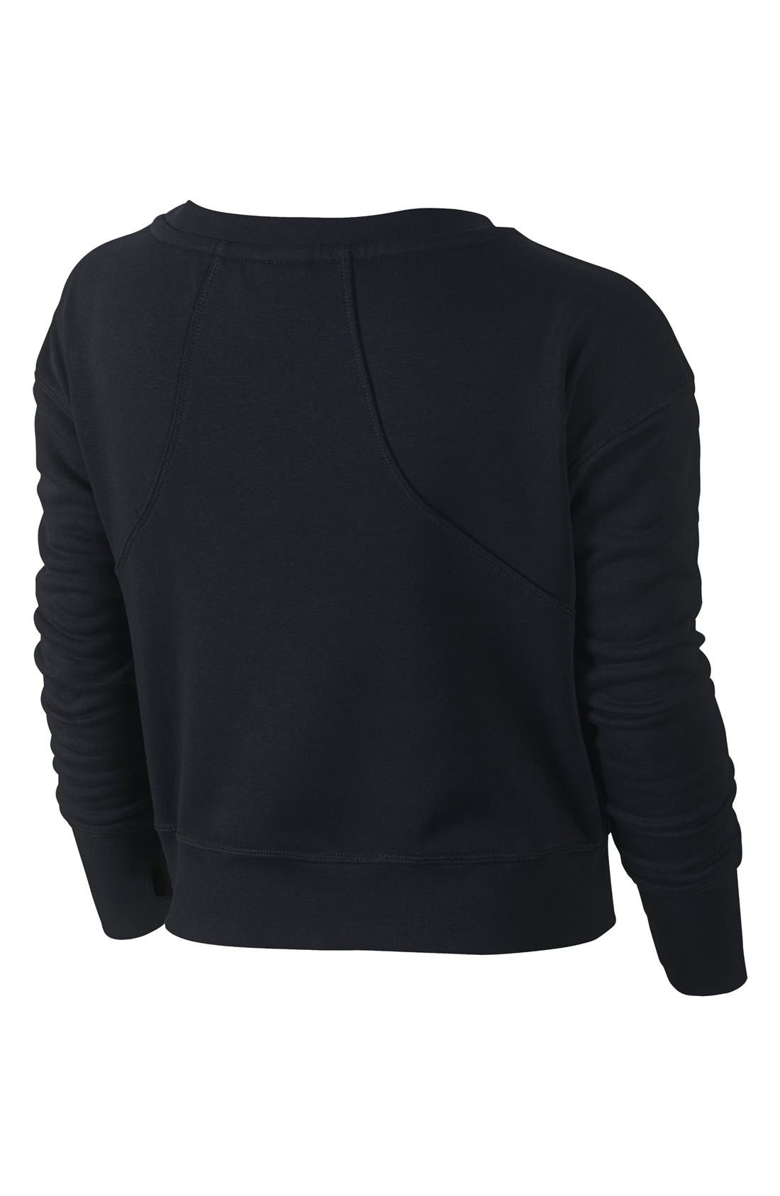 Alternate Image 2  - Nike Crop Sweatshirt (Big Girls) (Online Only)