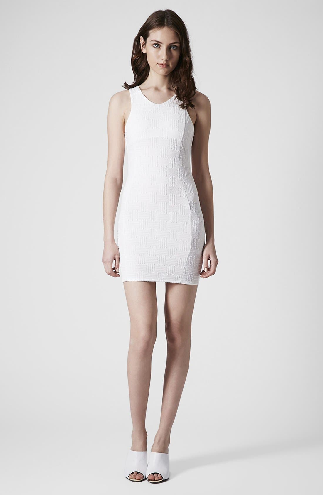 Alternate Image 4  - Topshop Jacquard Body-Con Dress (Petite)