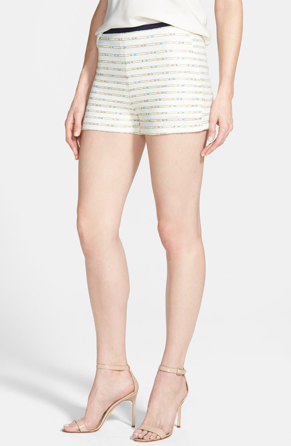 Main Image - Nikki Rich 'Coronado Ivory' Jacquard Shorts