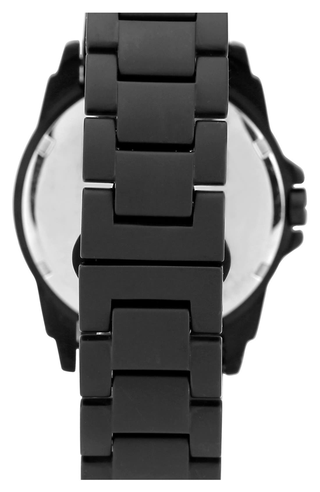Alternate Image 2  - Vince Camuto Pyramid Bezel Ceramic Bracelet Watch, 44mm x 49mm