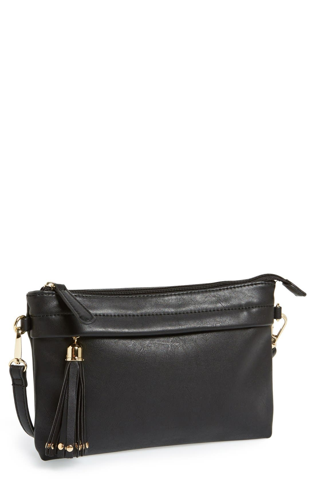 Main Image - BP. Faux Leather Crossbody Bag (Juniors)