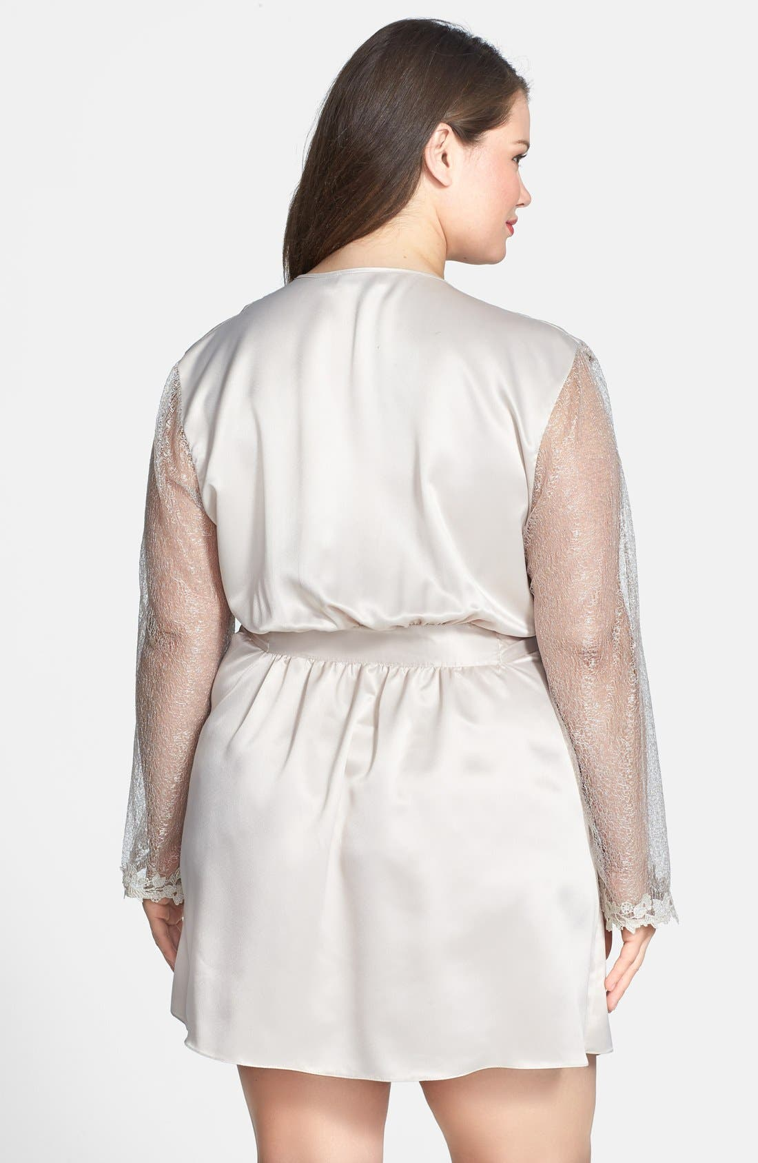 Alternate Image 2  - Flora Nikrooz 'Showstopper' Robe (Plus Size)