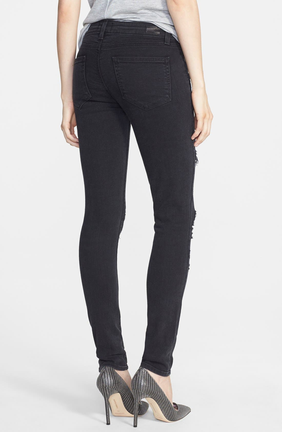 Alternate Image 2  - Paige Denim 'Indio' Zip Detail Skinny Jeans (Ramone Destructed)