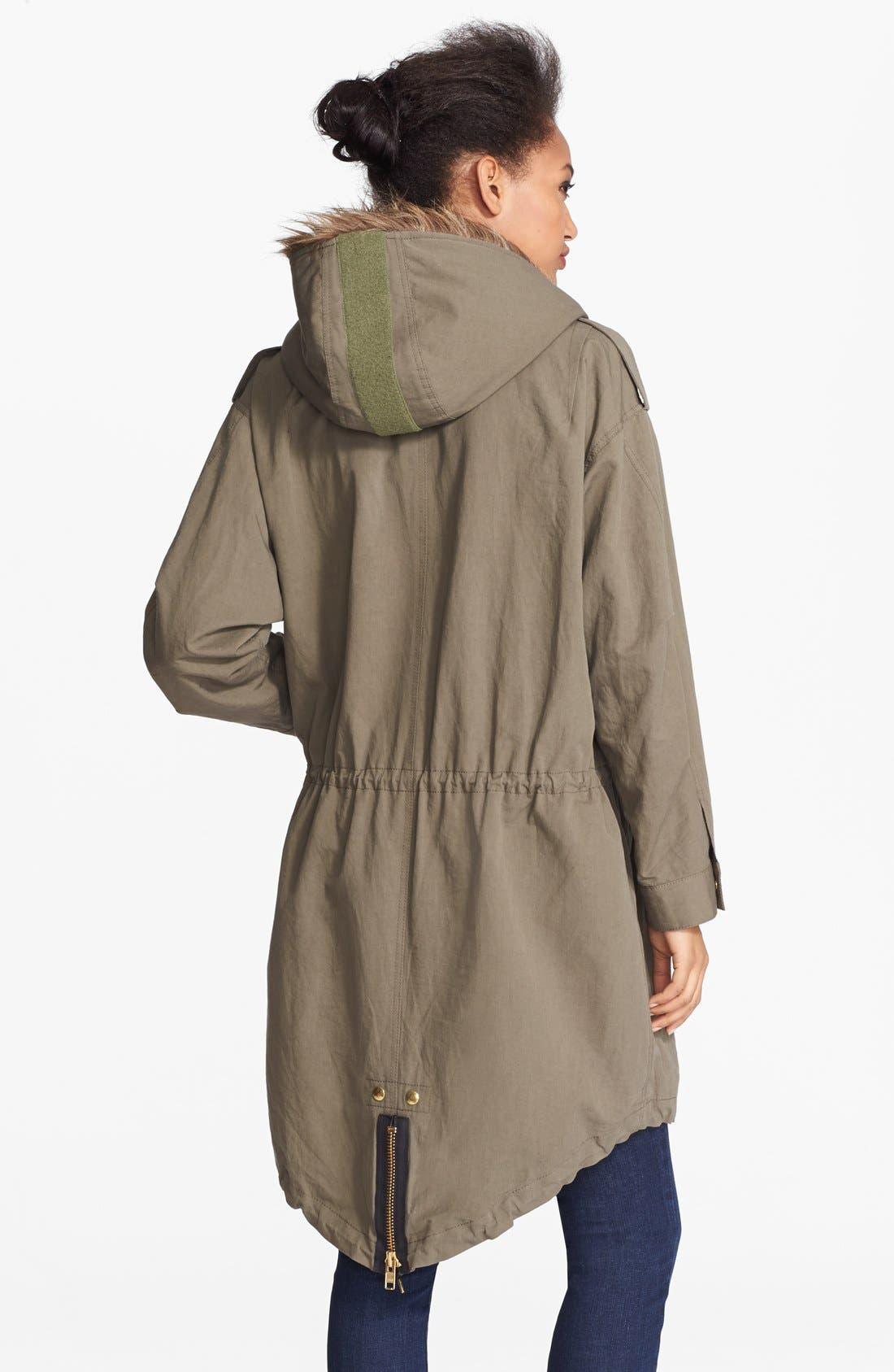 Alternate Image 2  - Smythe Oversized Anorak with Faux Fur Hood