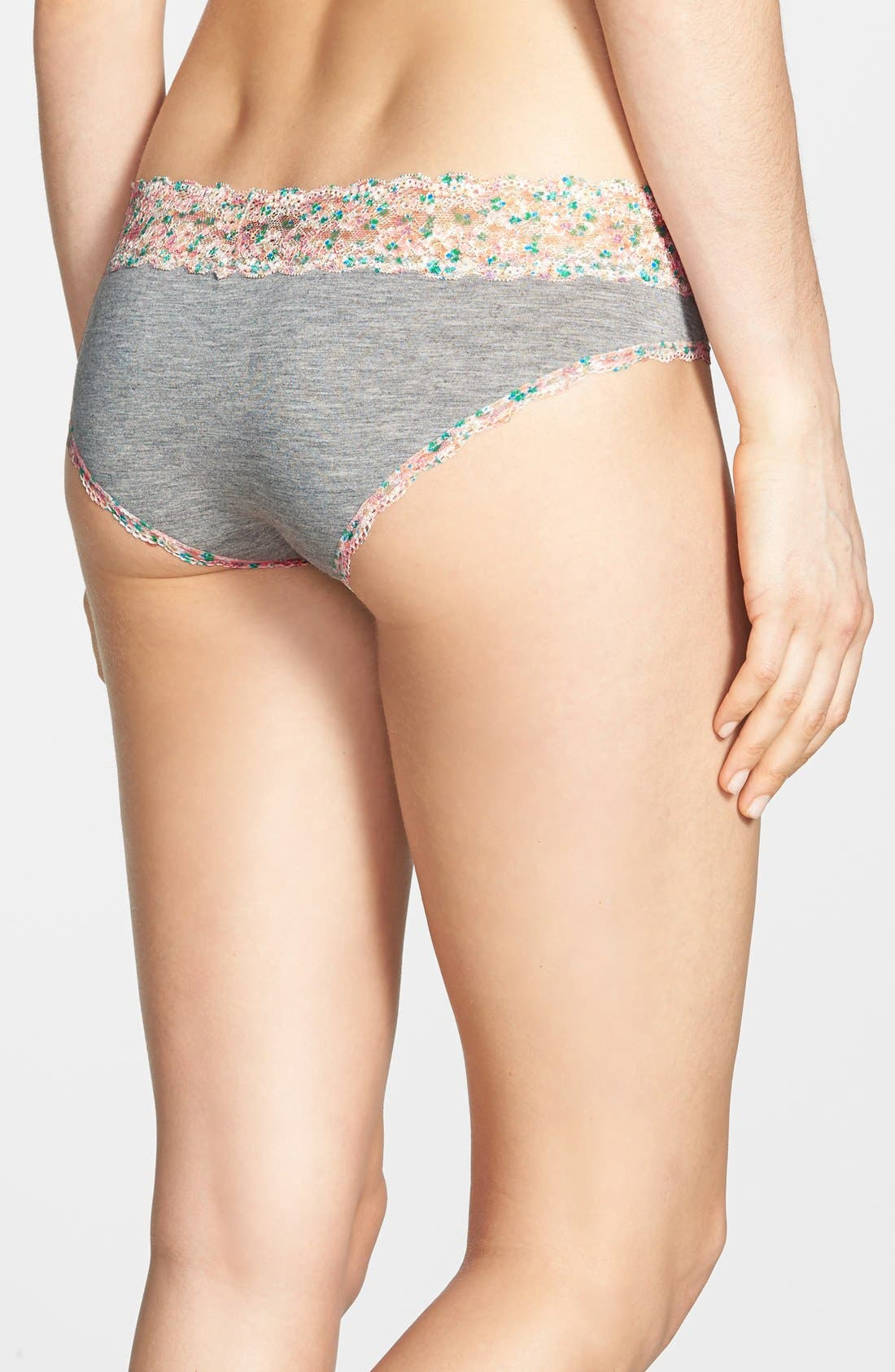 Alternate Image 2  - Honeydew Intimates 'Ahna' Lace Trim Print Hipster Briefs