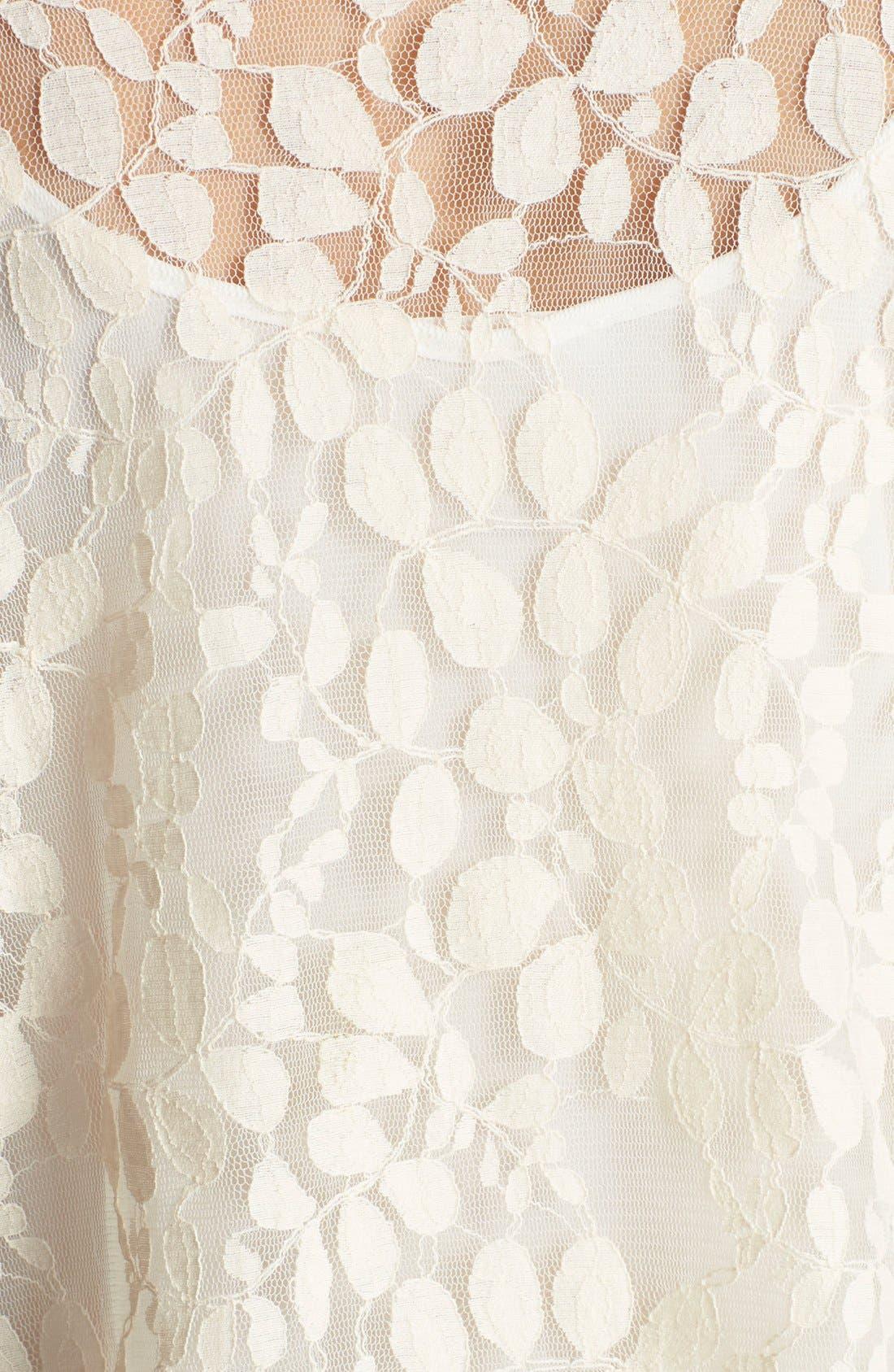 Alternate Image 3  - TRAC Short Lace Kimono (Juniors)