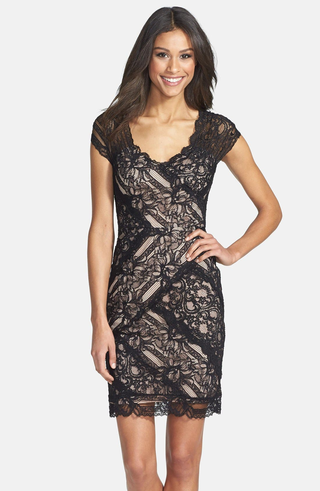 Main Image - Nicole Miller Stretch Lace Body-Con Dress