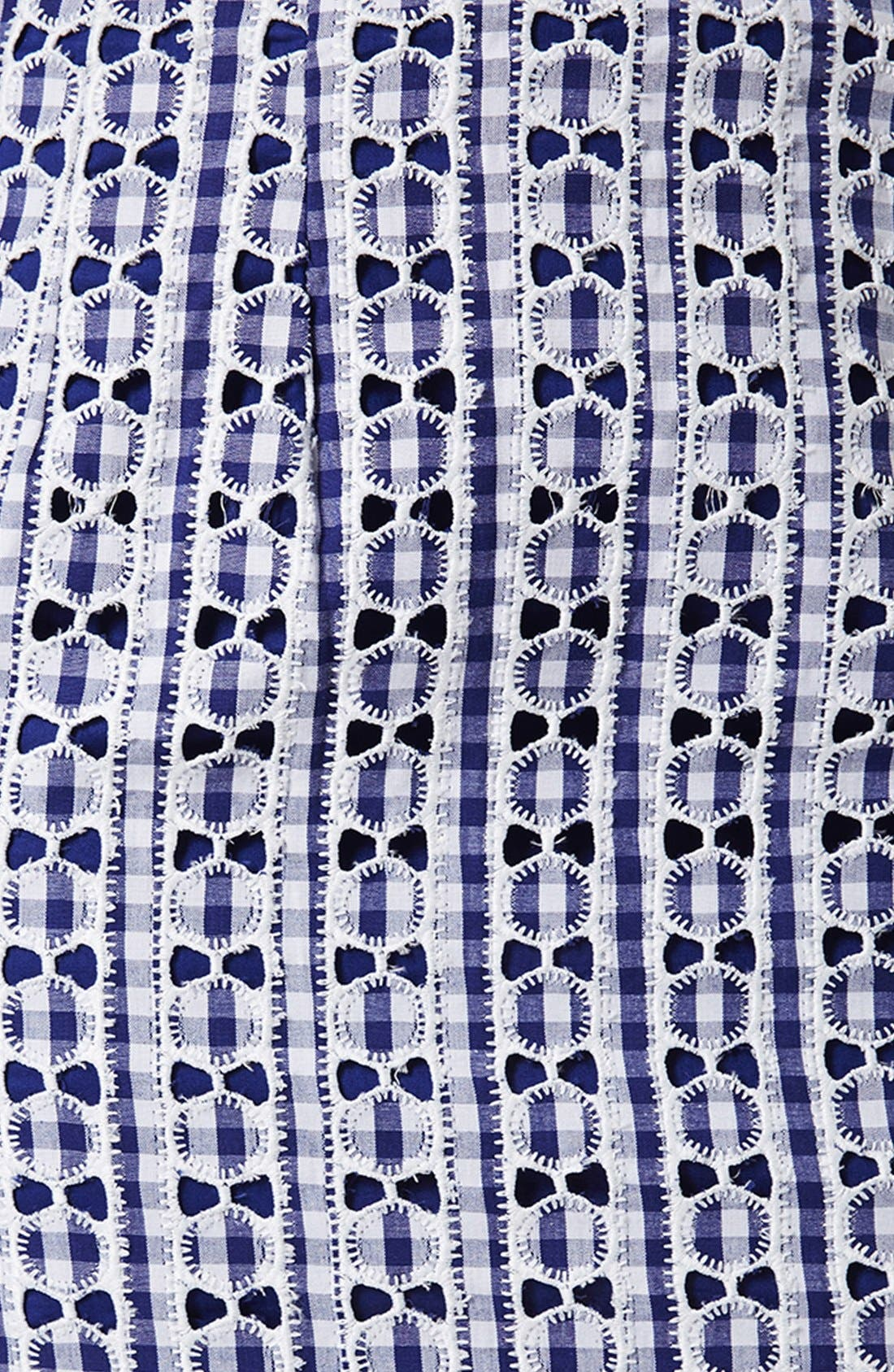 Alternate Image 4  - Topshop Lace Gingham Pelmet Skirt (Petite)
