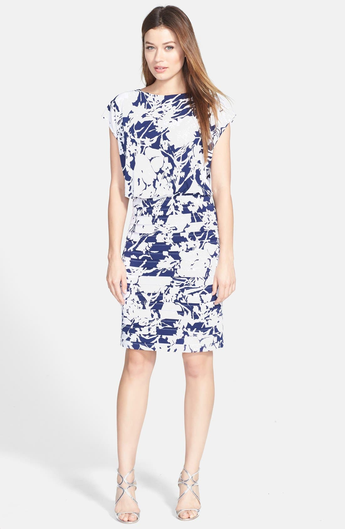 Alternate Image 3  - Adrianna Papell Print Blouson Jersey Dress