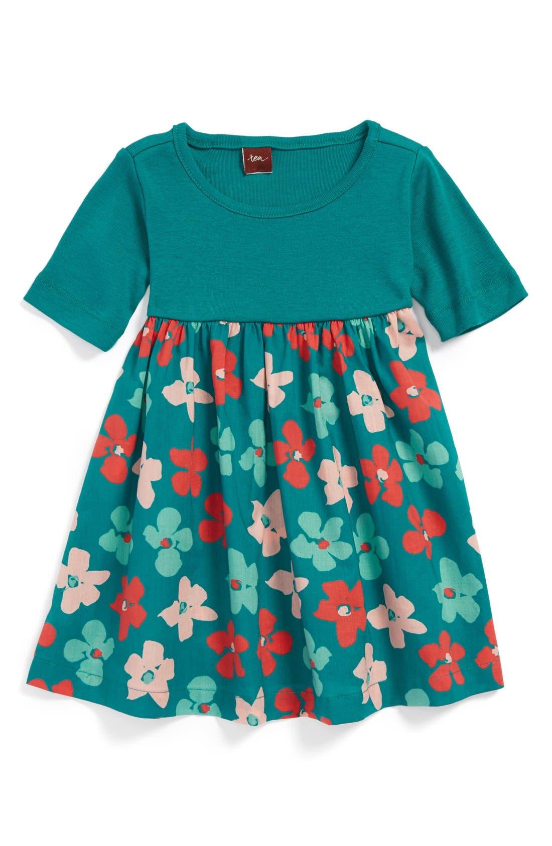 Main Image - Tea Collection 'Stiefmütterchen' Cotton Dress (Baby Girls)