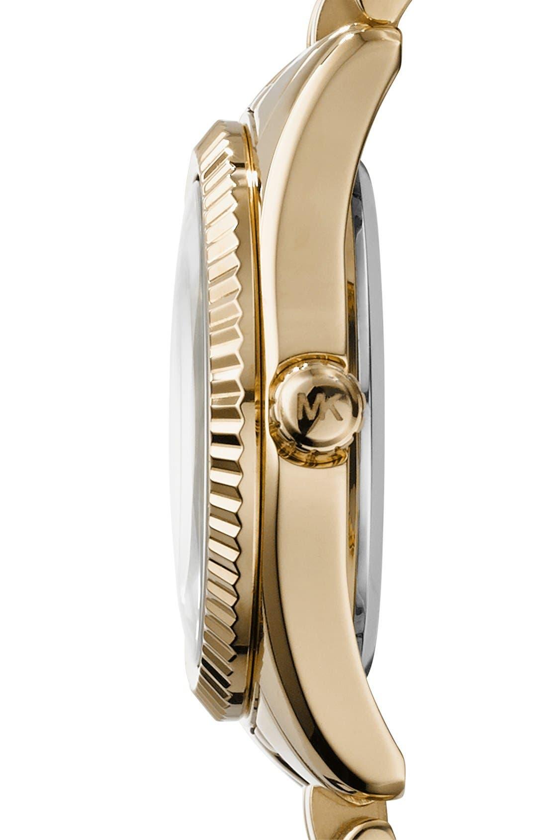 Alternate Image 2  - Michael Kors 'Petite Lexington' Pavé Dial Bracelet Watch, 26mm