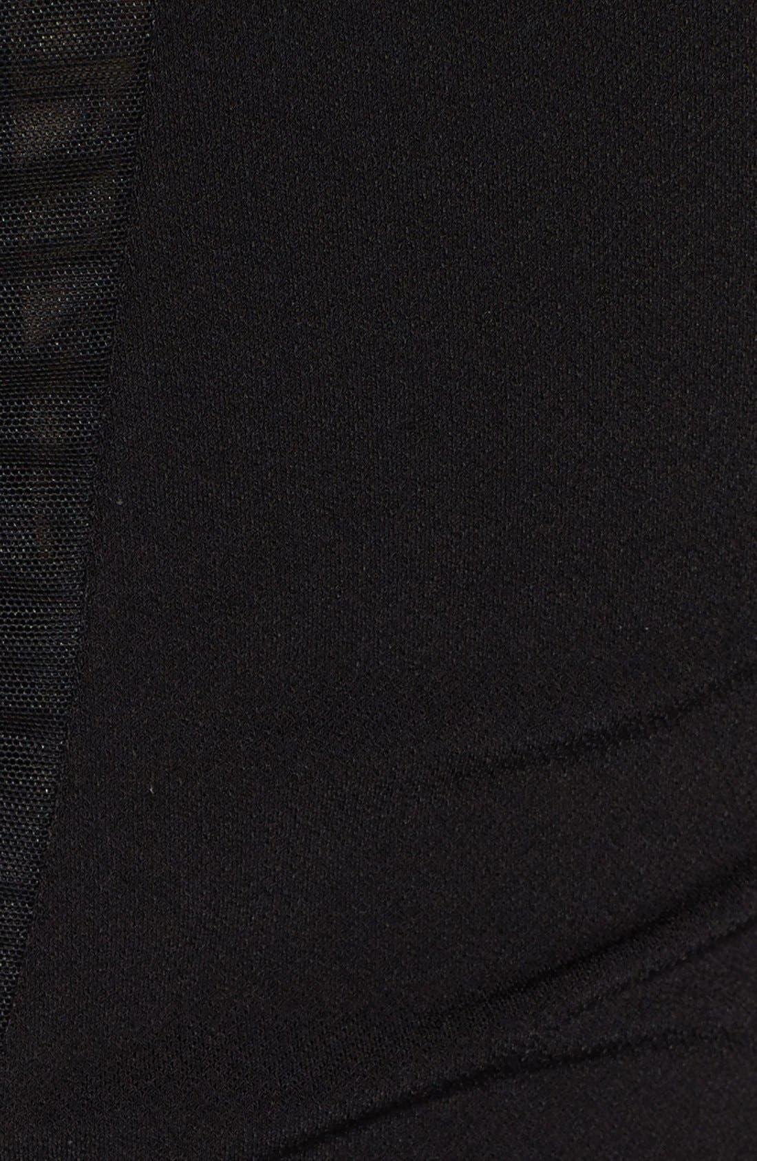 Alternate Image 3  - Alice + Olivia 'Maris' Sheer Sunburst Jersey Dress