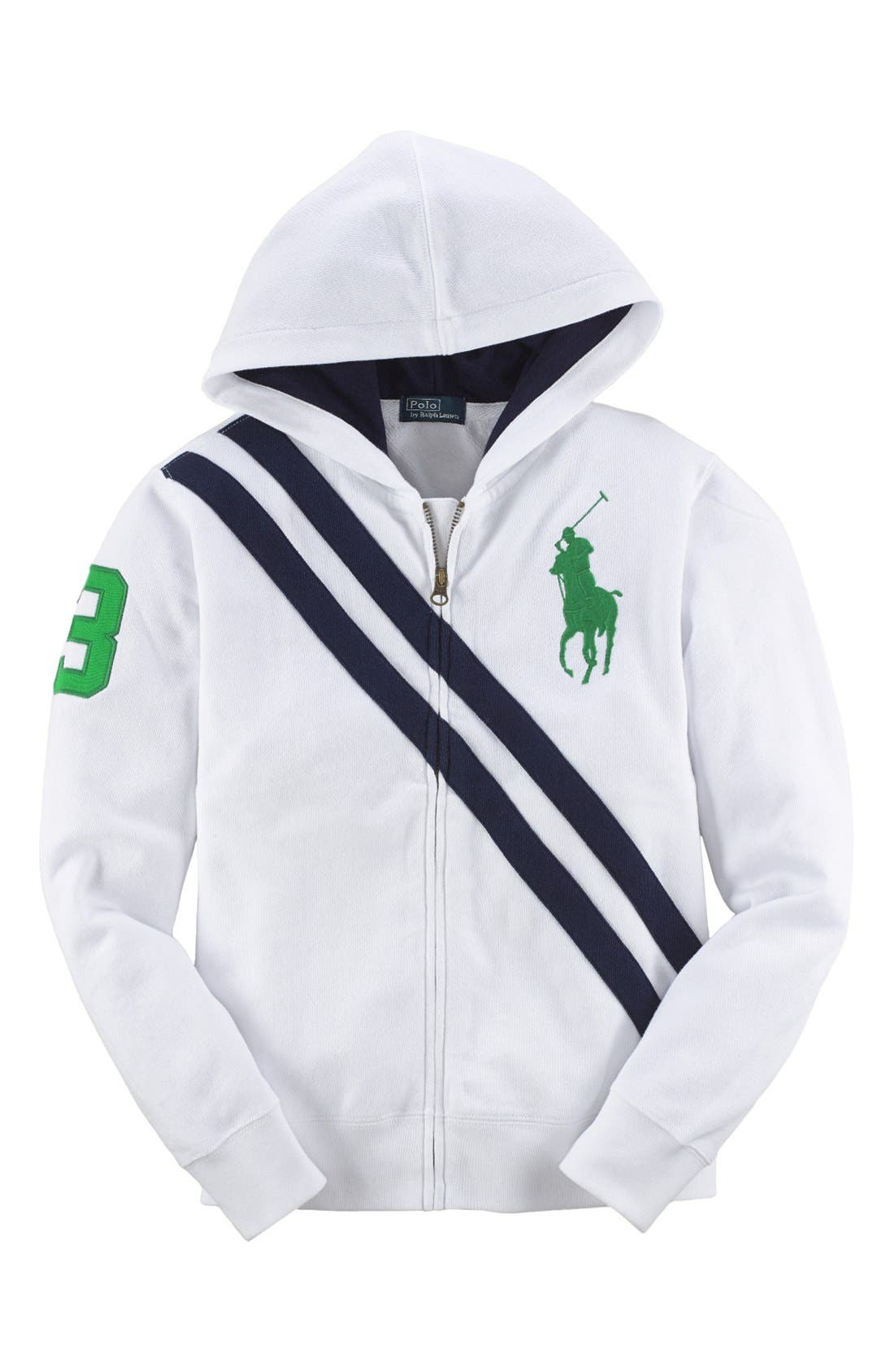 Alternate Image 1 Selected - Ralph Lauren 'Atlantic' French Terry Hoodie (Little Boys)