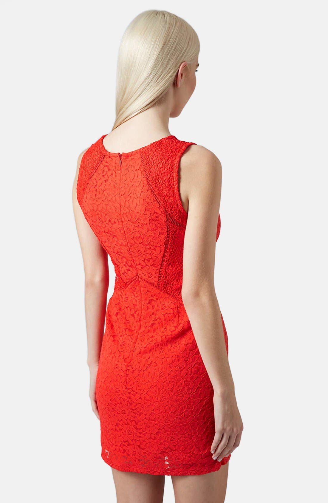 Alternate Image 2  - Topshop Mixed Lace Body-Con Dress