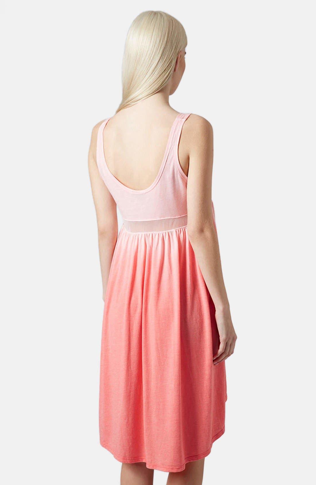 Alternate Image 2  - Topshop Mesh Inset Ombré Dress