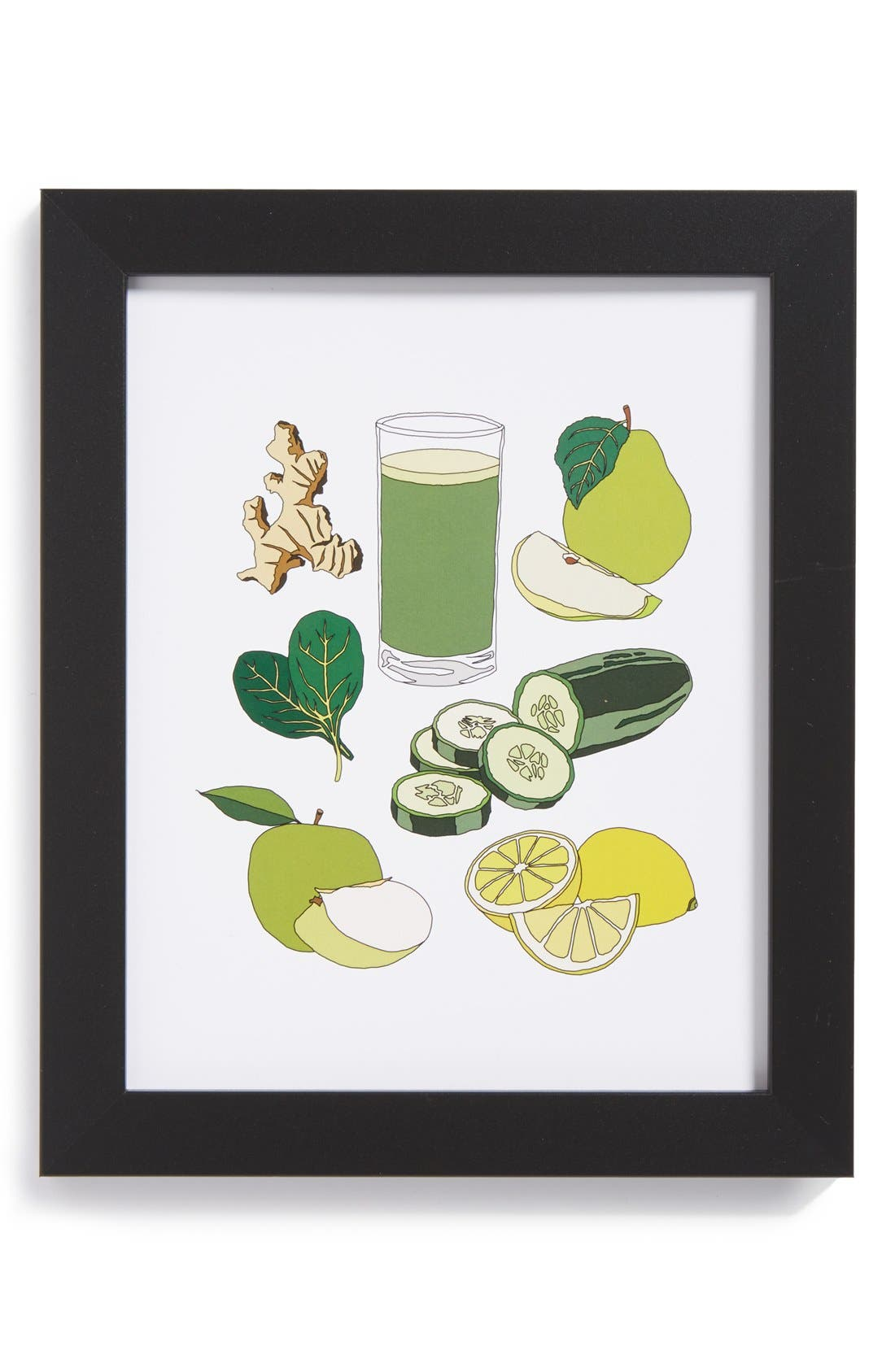 Alternate Image 1 Selected - The Oyster's Pearl 'Green Juice' Framed Print