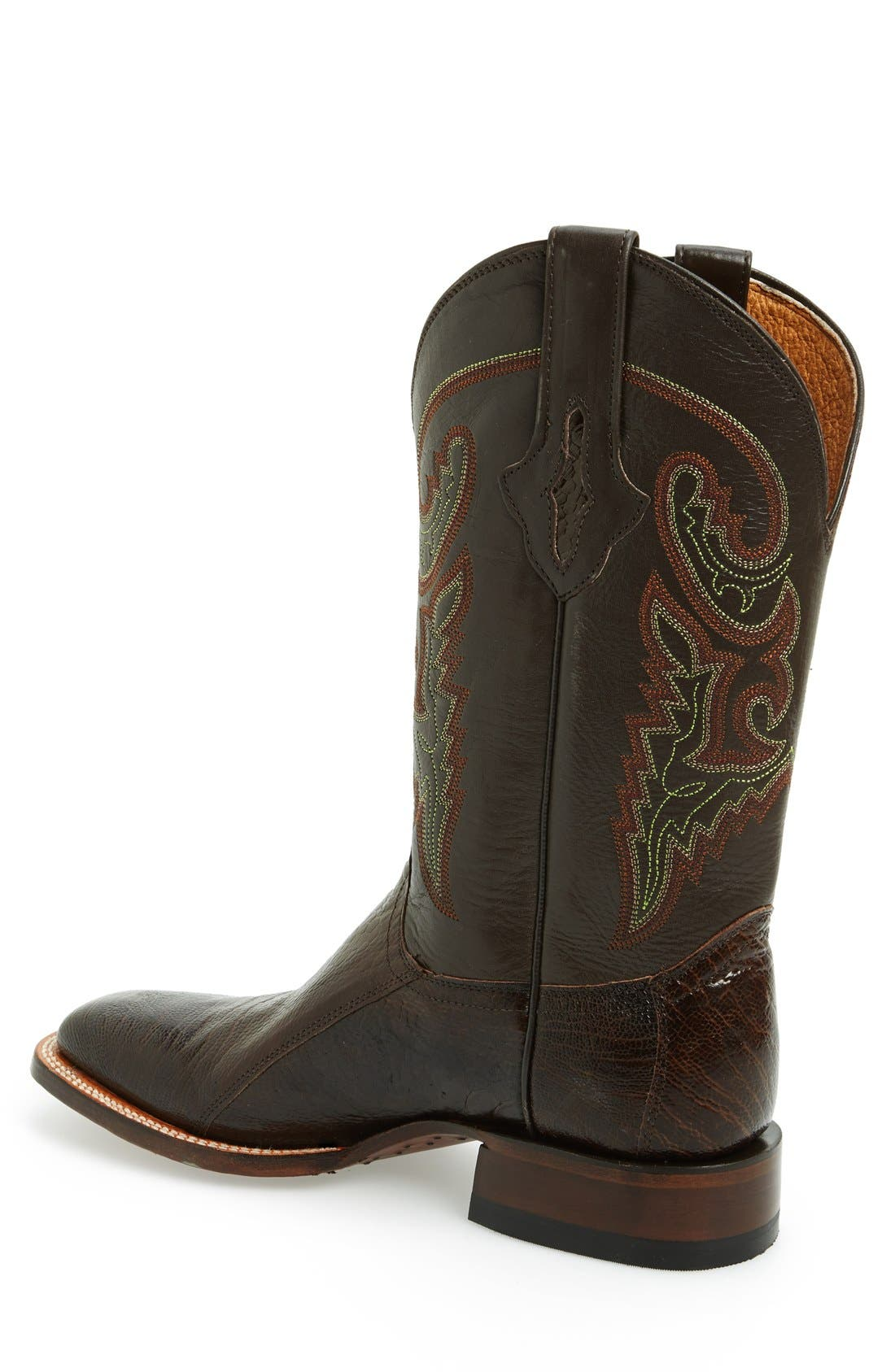 Alternate Image 2  - Lucchese Square Toe Leather Boot (Men)