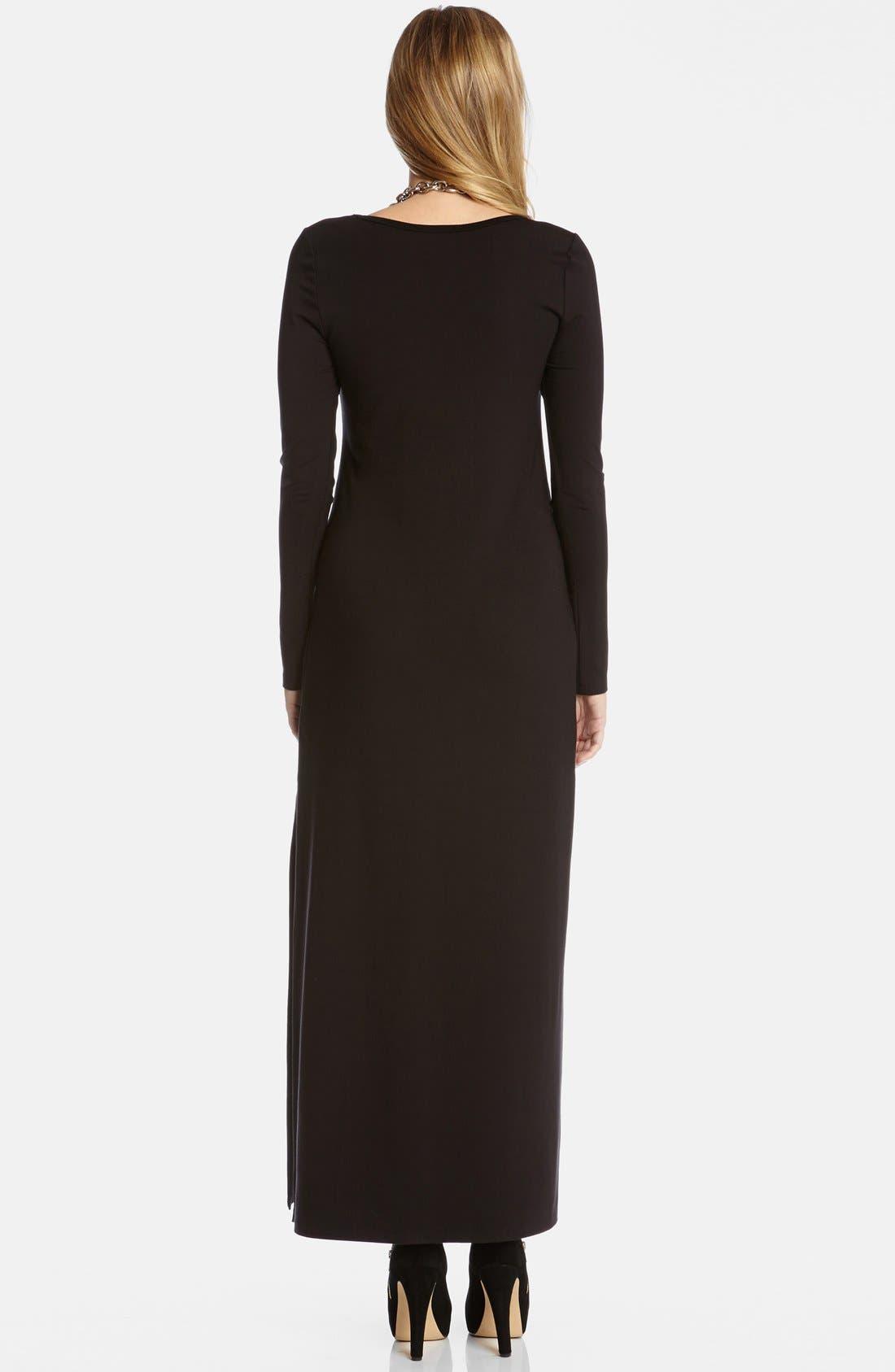 Alternate Image 2  - Karen Kane Long Sleeve Jersey Maxi Dress