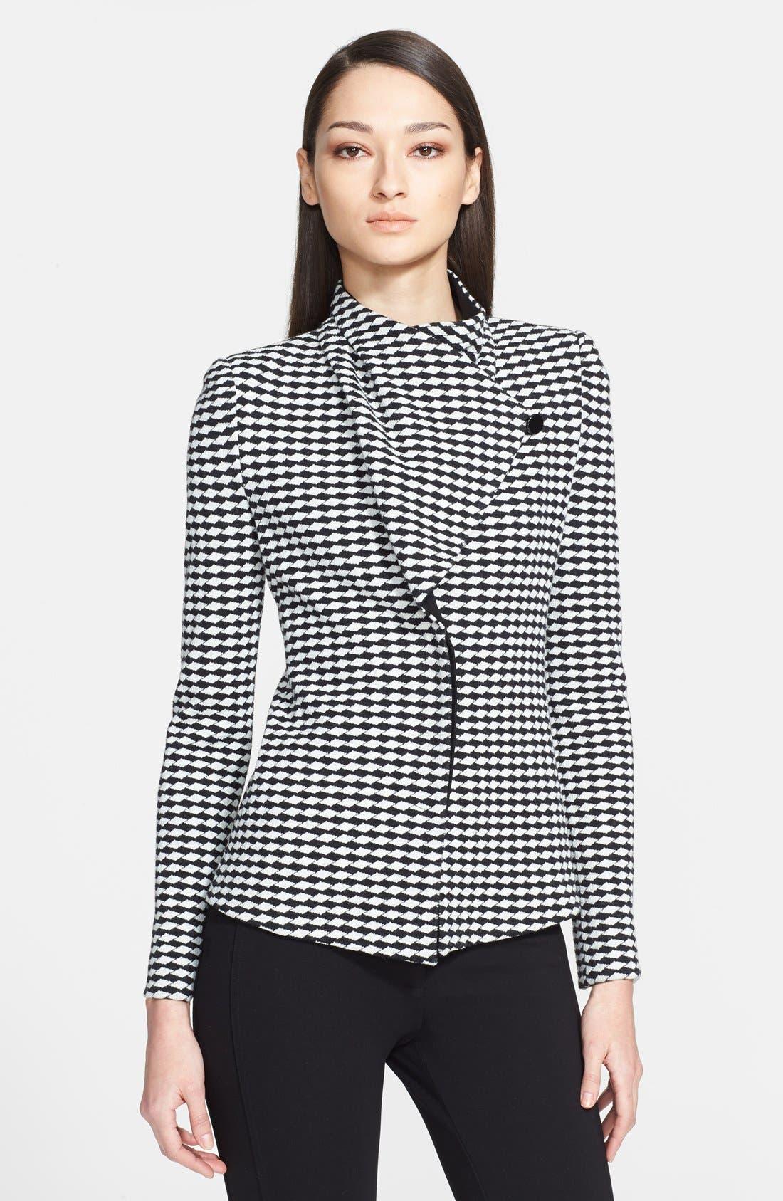 Alternate Image 3  - Armani Collezioni Asymmetrical Jacquard Jersey Jacket
